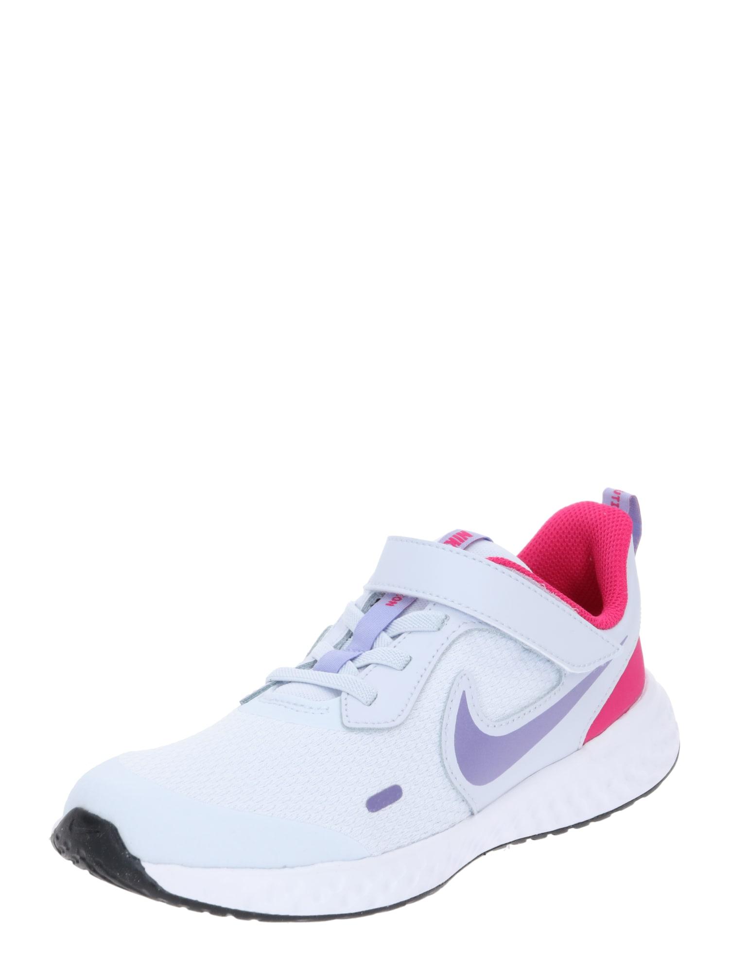 NIKE Sportovní boty 'Revolution 5'  světle šedá / cyclam / šeříková