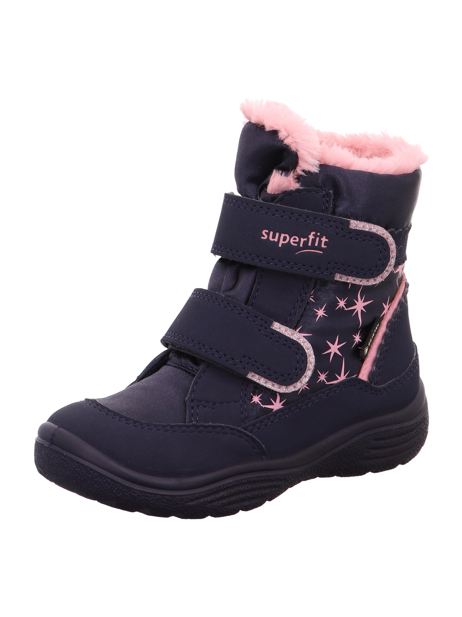 SUPERFIT Auliniai batai su kulniuku 'CRYSTAL' mėlyna / rožių spalva
