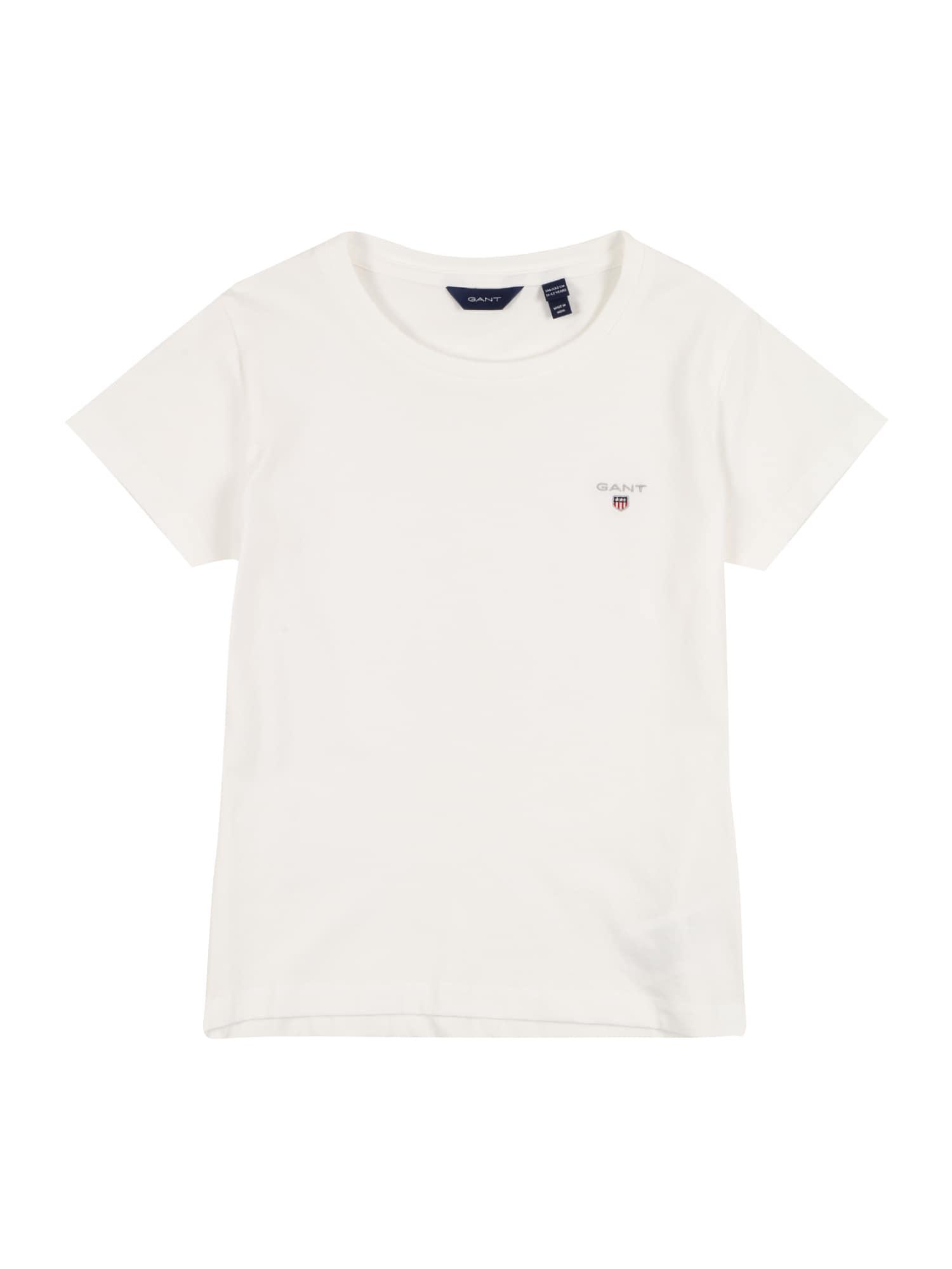 GANT Marškinėliai balta / sidabrinė / tamsiai mėlyna jūros spalva / ugnies raudona