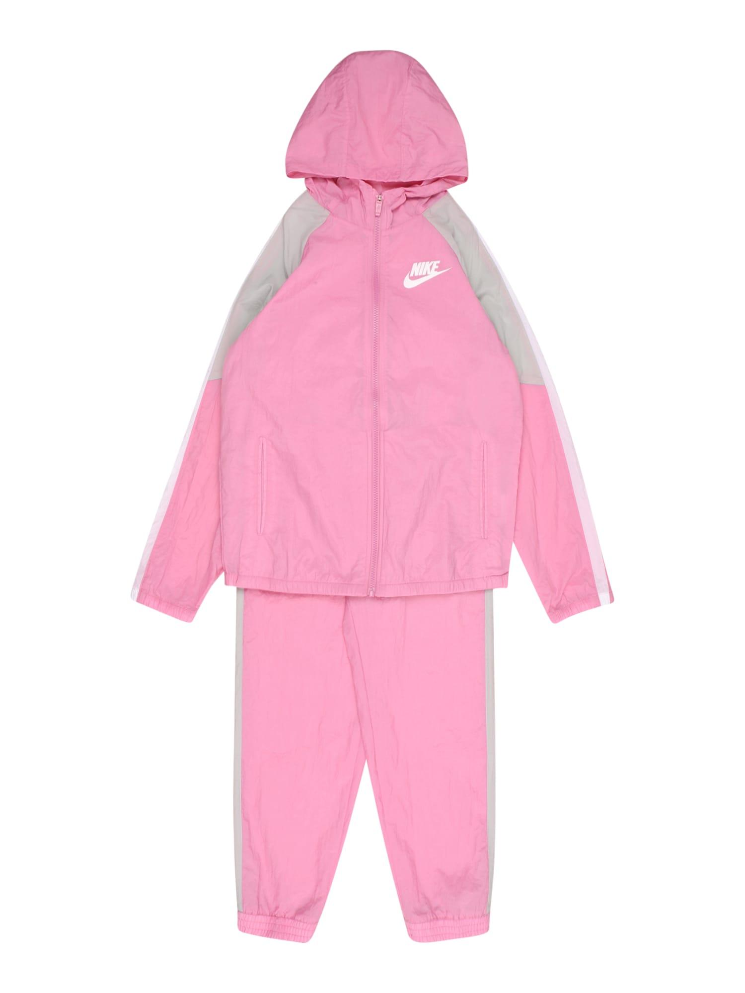 Nike Sportswear Kostiumas šviesiai pilka / rožių spalva / balta