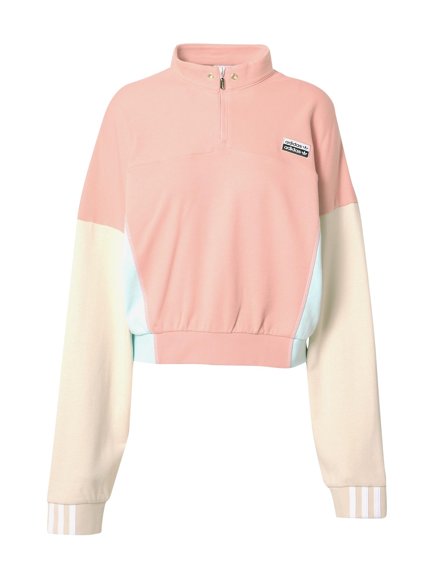 ADIDAS ORIGINALS Megztinis be užsegimo ryškiai rožinė spalva / kremo / šviesiai mėlyna