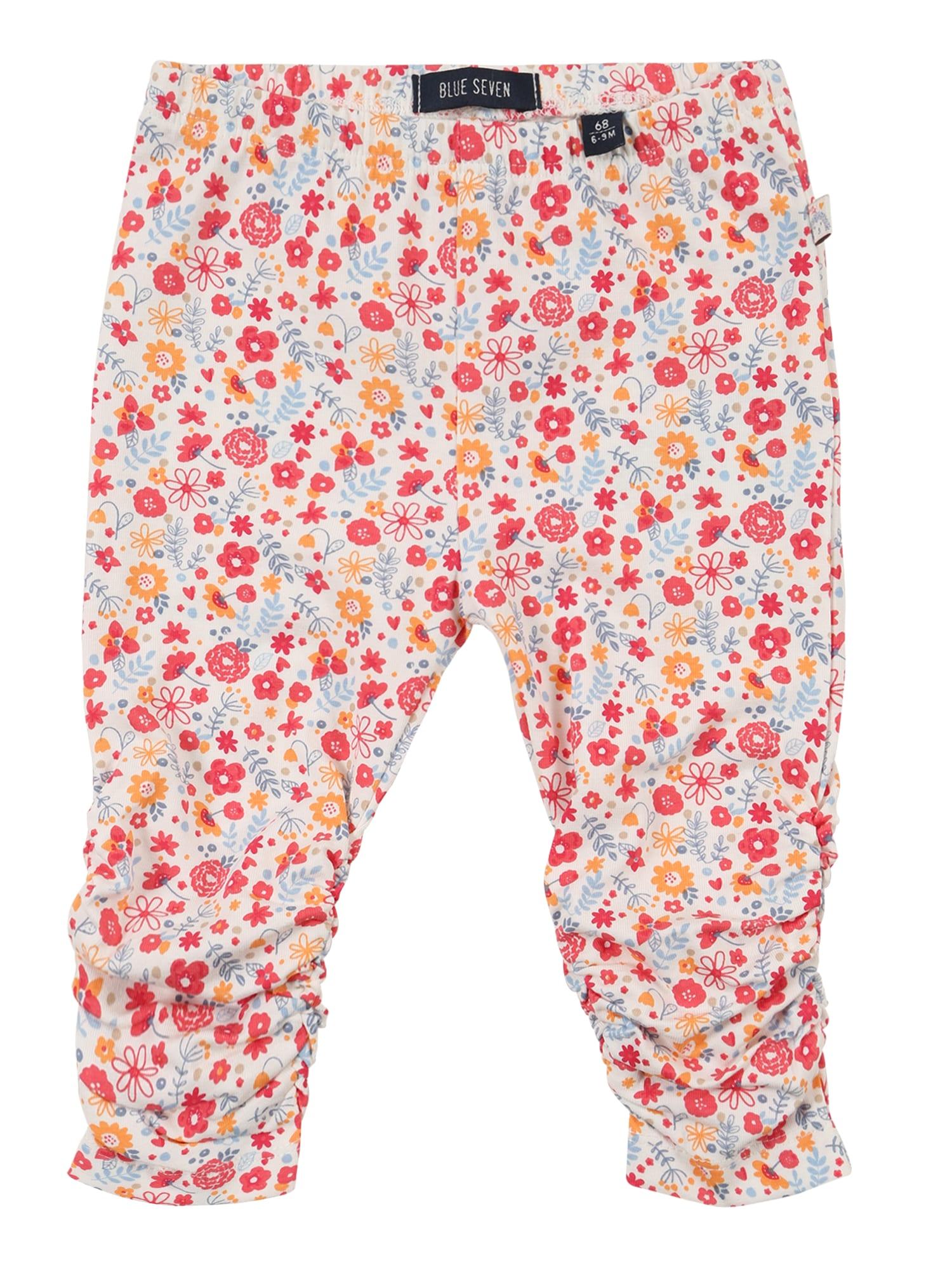 BLUE SEVEN Kalhoty  bílá / pink / oranžová / světlemodrá