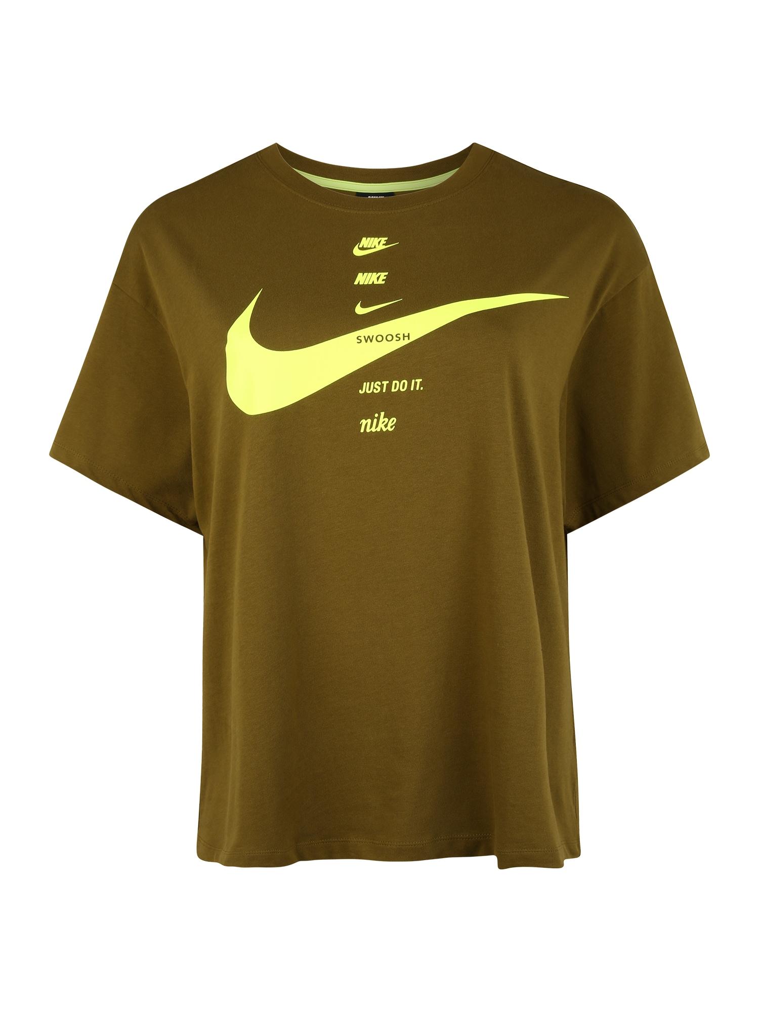 Nike Sportswear Tričko  olivová