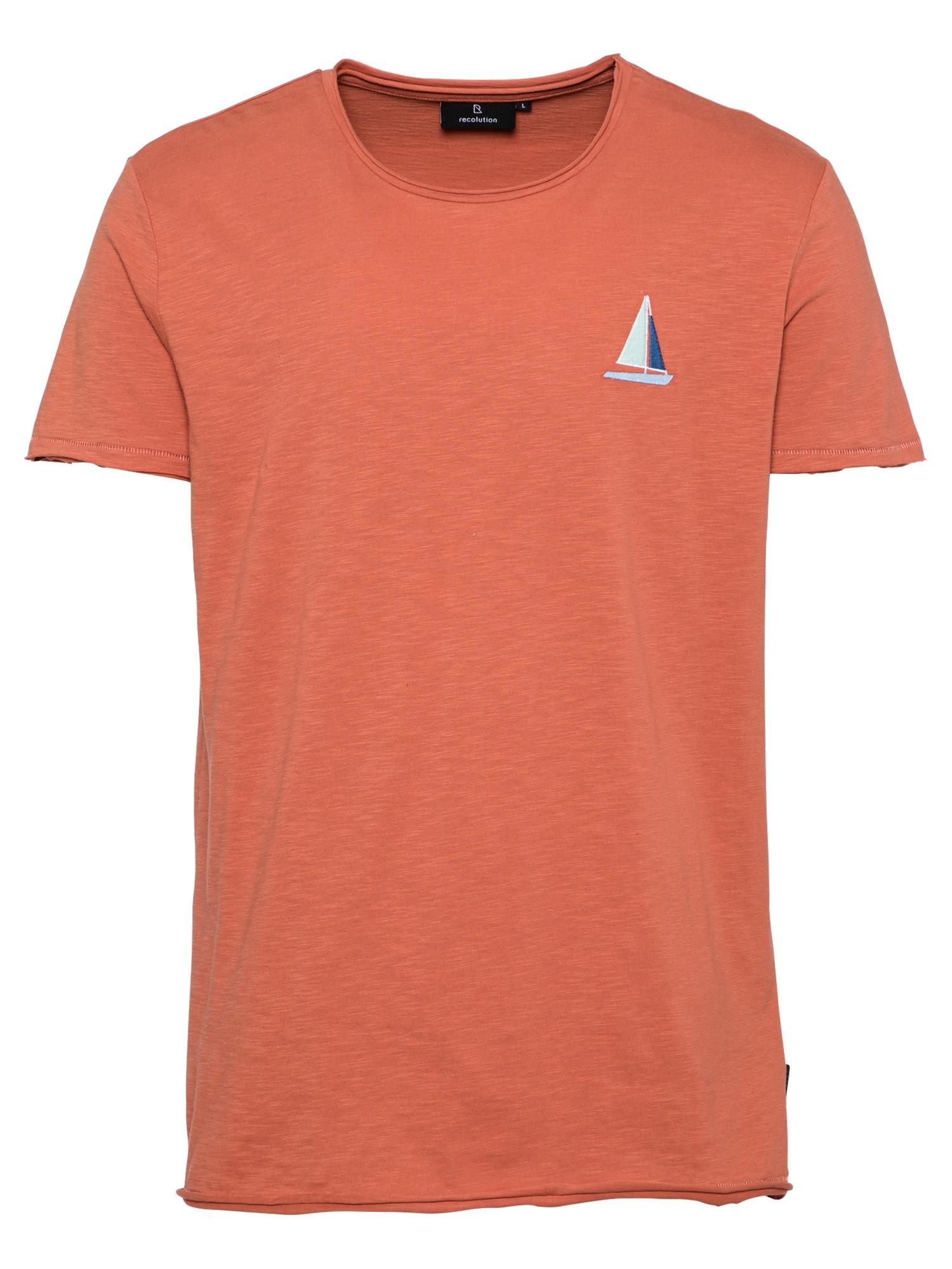 recolution Marškinėliai šviesiai mėlyna / mėlyna / omarų spalva