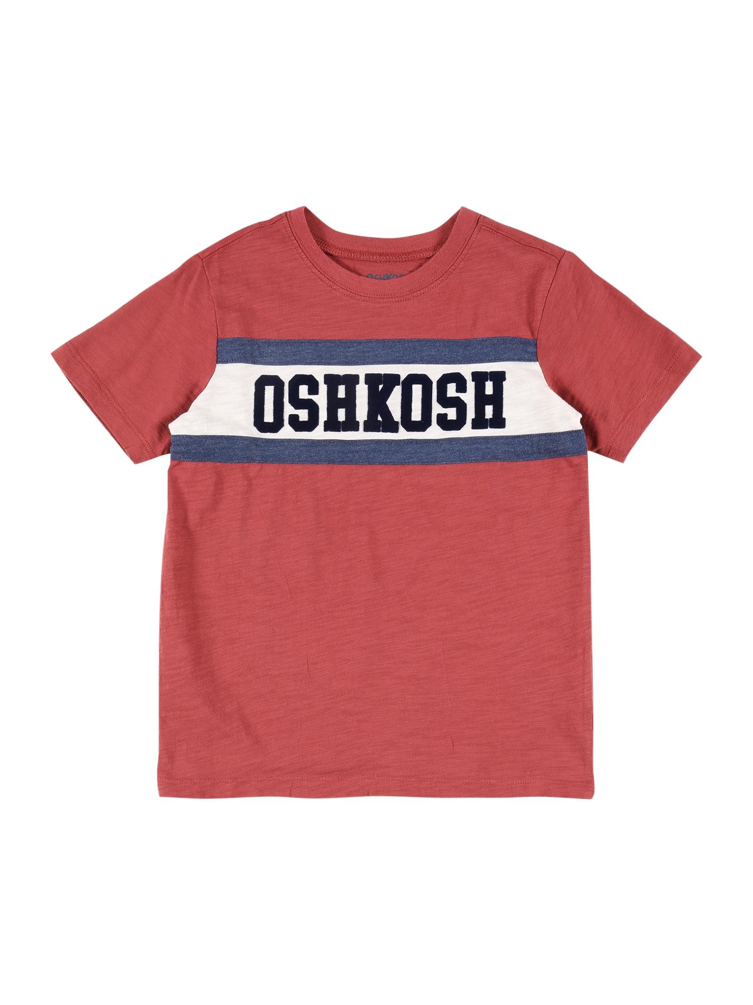 OshKosh Marškinėliai smėlio / tamsiai mėlyna / pastelinė raudona
