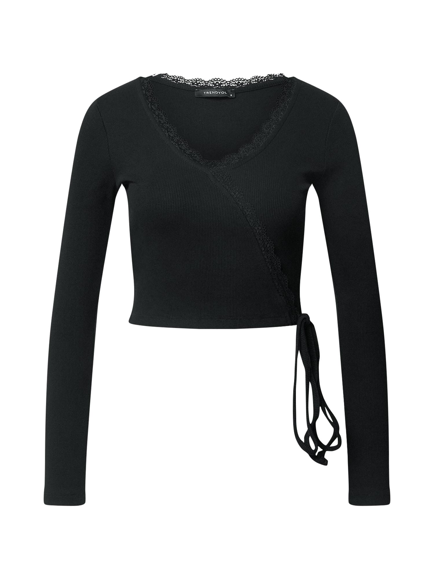 Trendyol Marškinėliai juoda