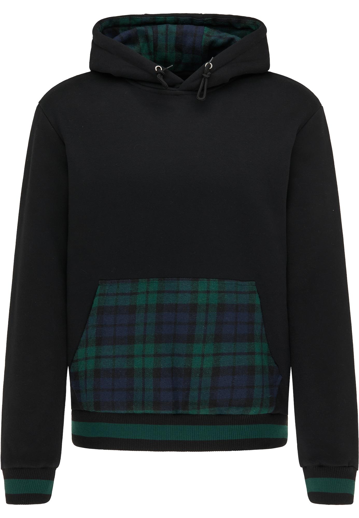 MO Megztinis be užsegimo juoda / tamsiai mėlyna jūros spalva / smaragdinė spalva