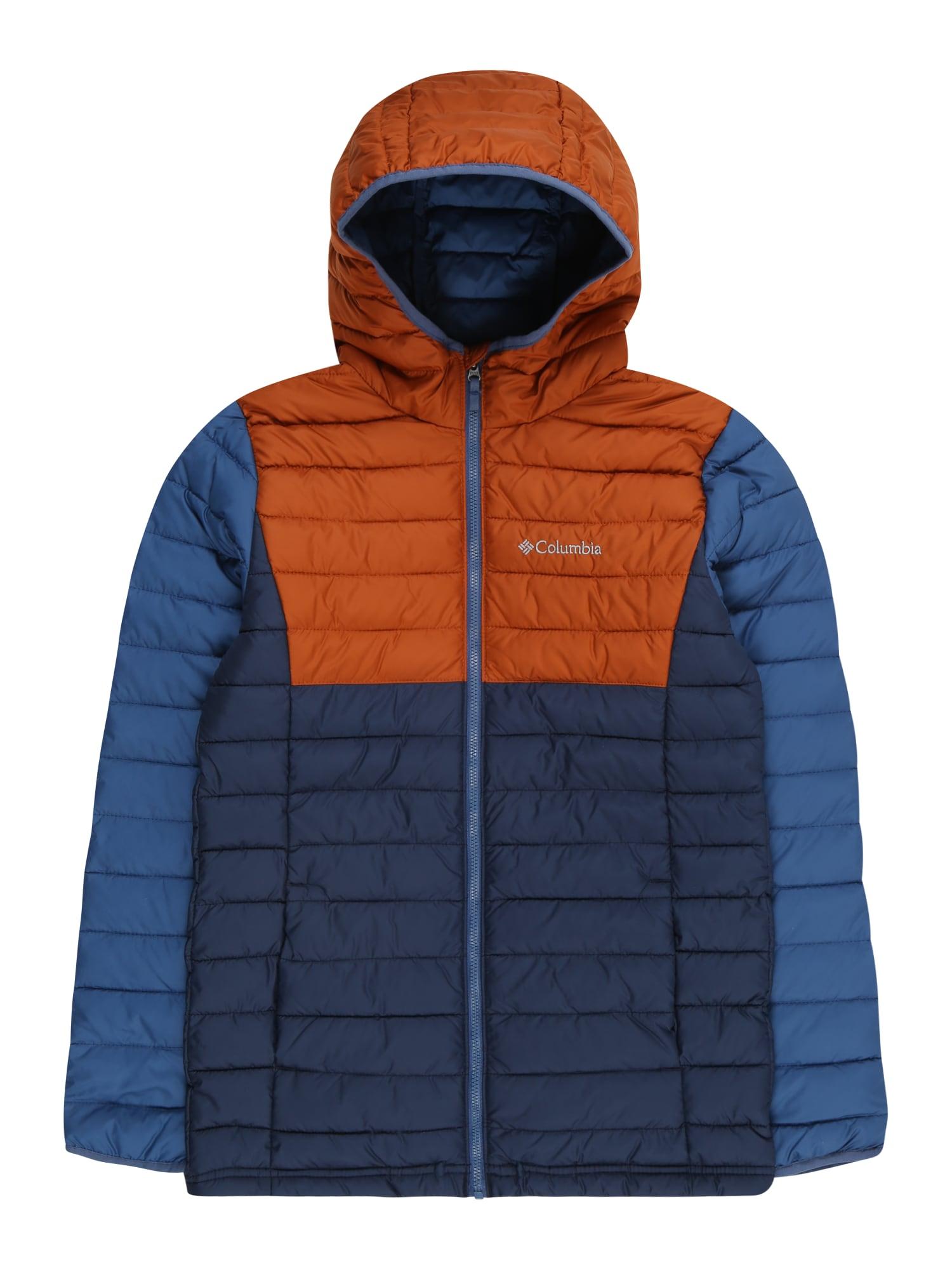 COLUMBIA Laisvalaikio striukė 'Powder Lite' tamsiai mėlyna / nakties mėlyna / oranžinė