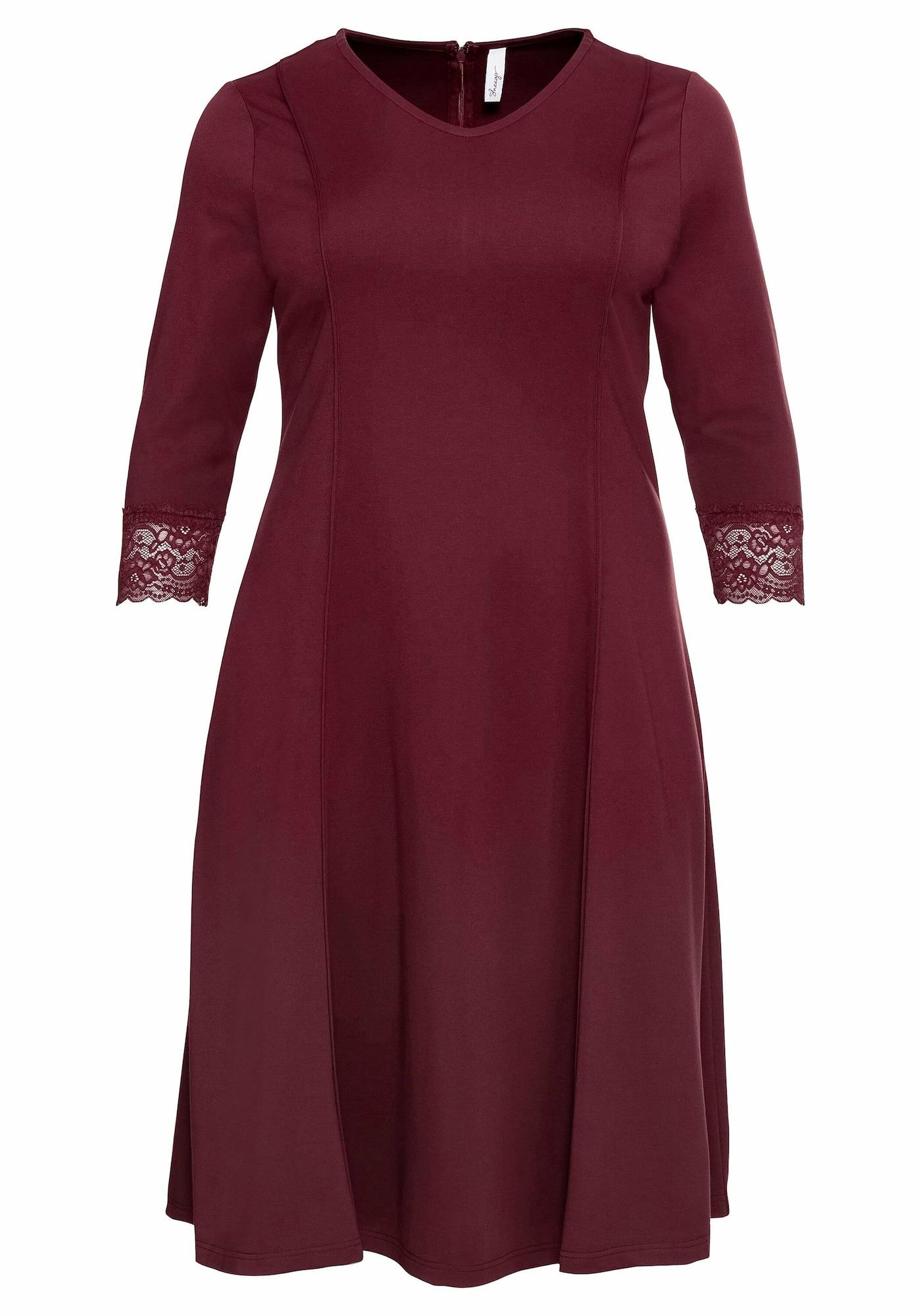 SHEEGO Trumpa kokteilinė suknelė vyšninė spalva
