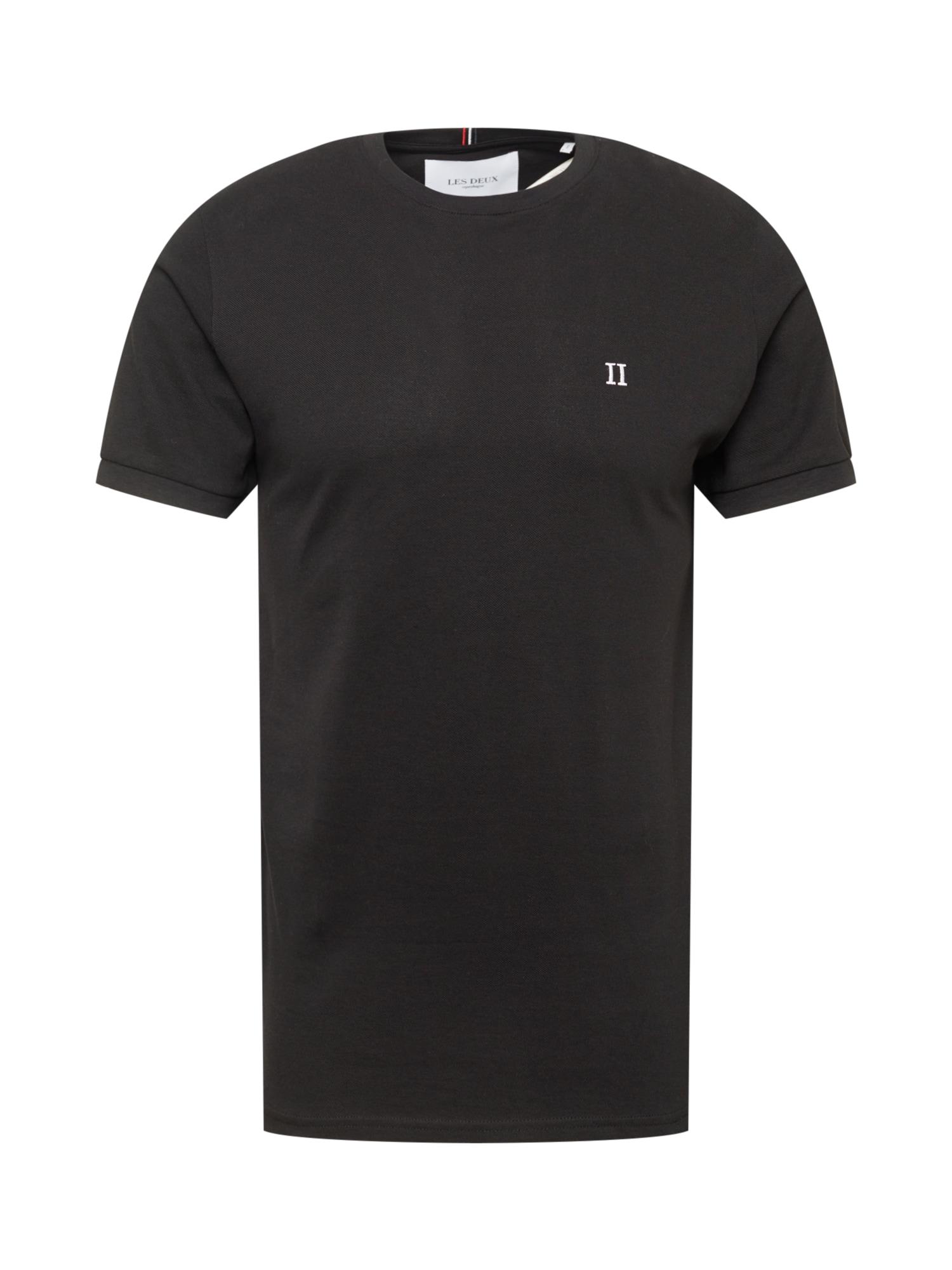 Les Deux Marškinėliai juoda / balta