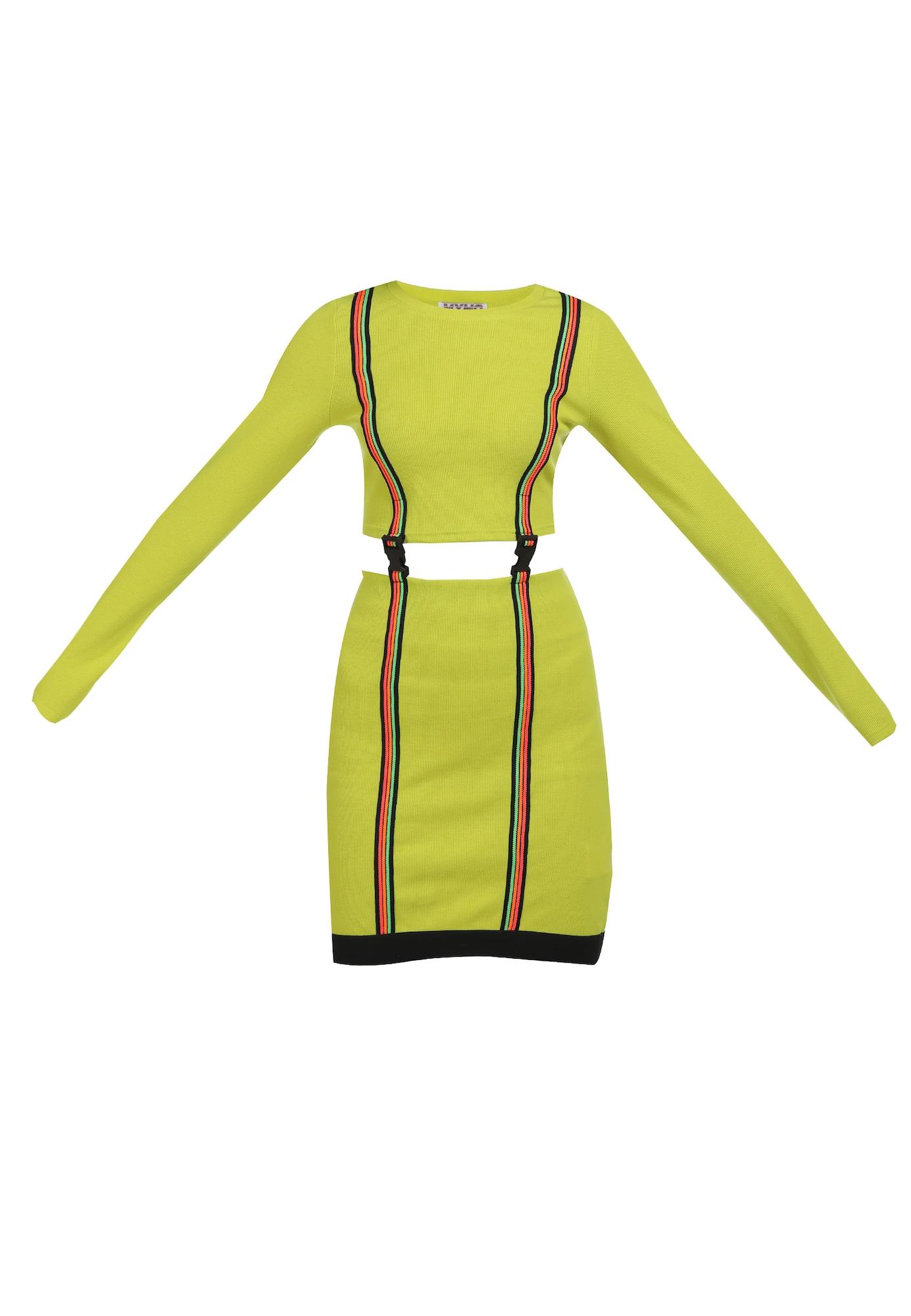 myMo ATHLSR Sportinė suknelė juoda / obuolių spalva / rožinė / oranžinė / neoninė žalia