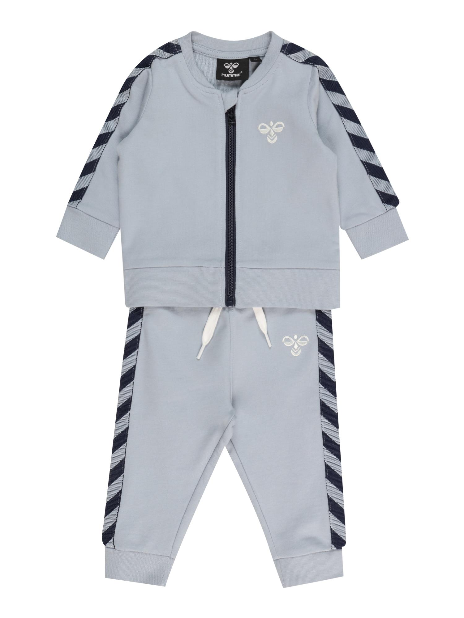 Hummel Treniruočių kostiumas šviesiai mėlyna / juoda / balta