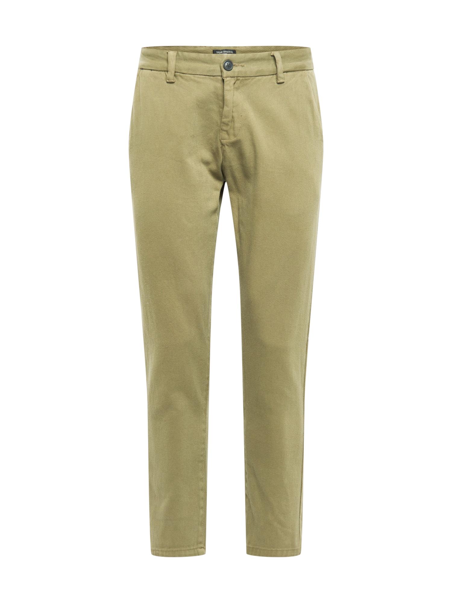 """SHINE ORIGINAL """"Chino"""" stiliaus kelnės tamsiai žalia / rusvai žalia"""