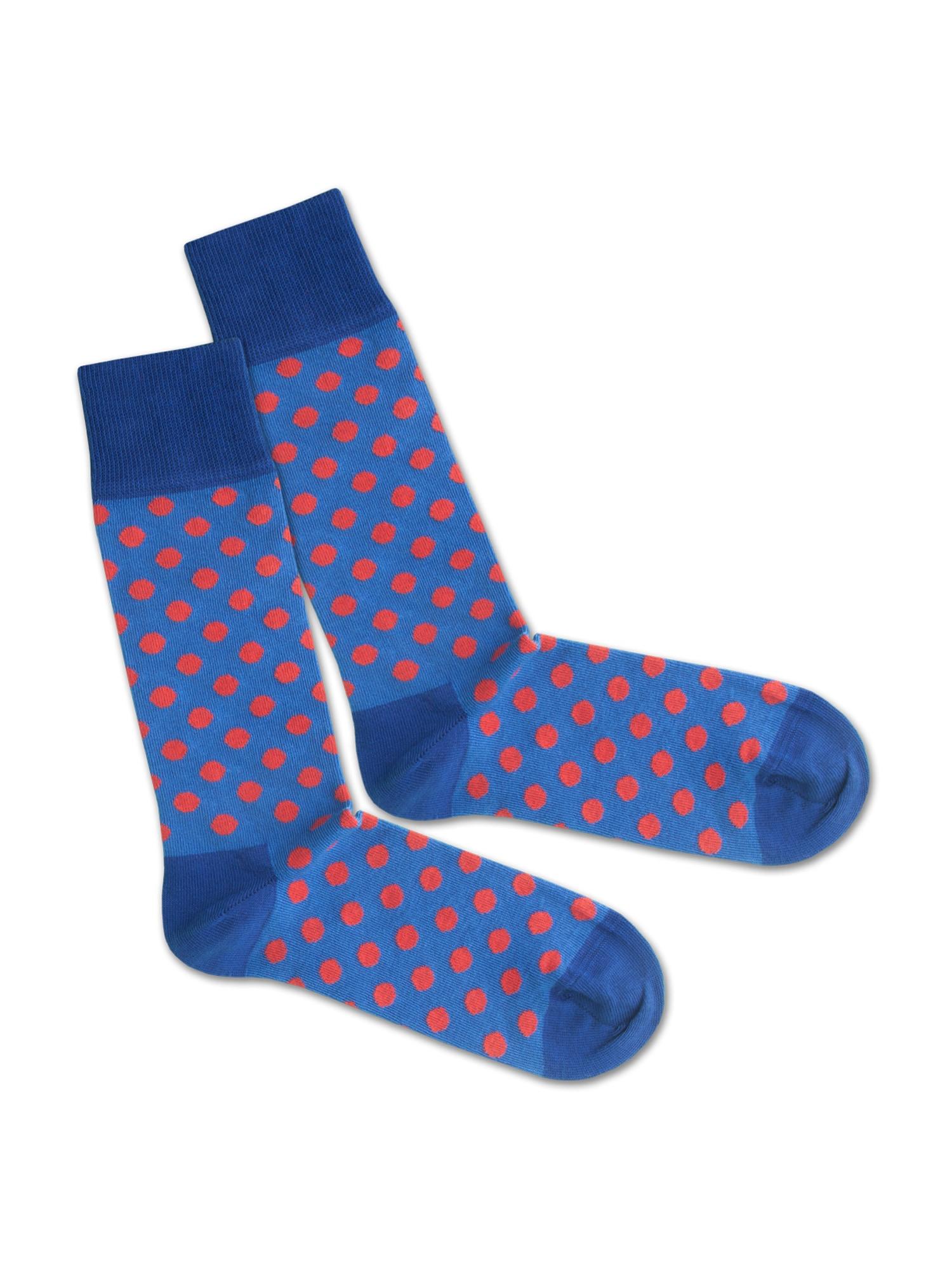 DillySocks Ponožky  červená / modrá