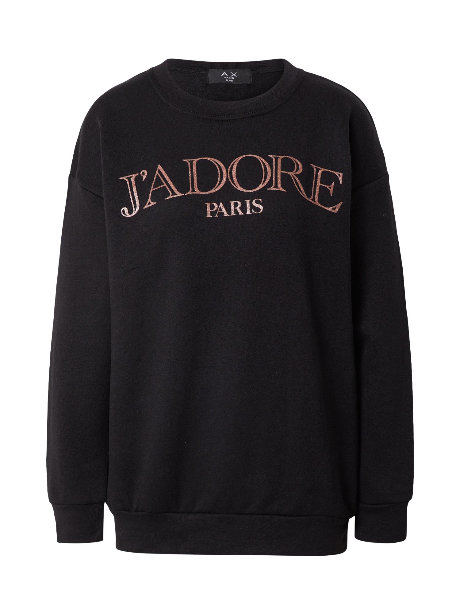 AX Paris Megztinis be užsegimo juoda / vario spalva