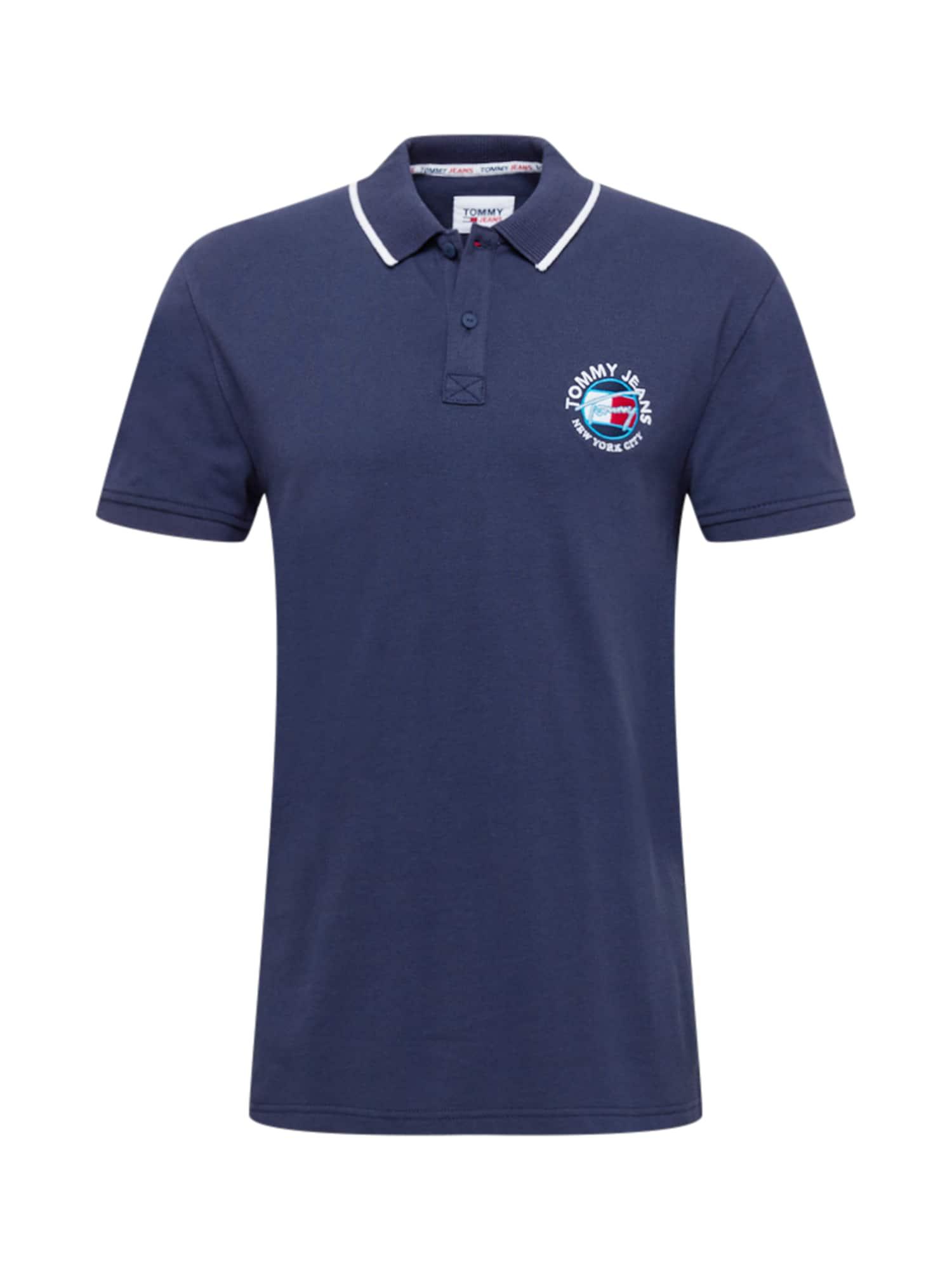 Tommy Jeans Tričko  marine modrá / bílá / ohnivá červená / tyrkysová