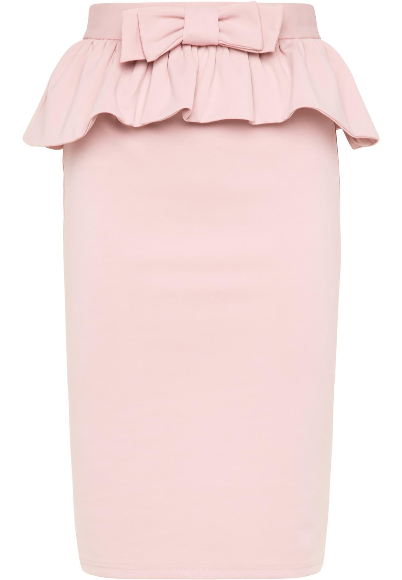 faina Sijonas ryškiai rožinė spalva