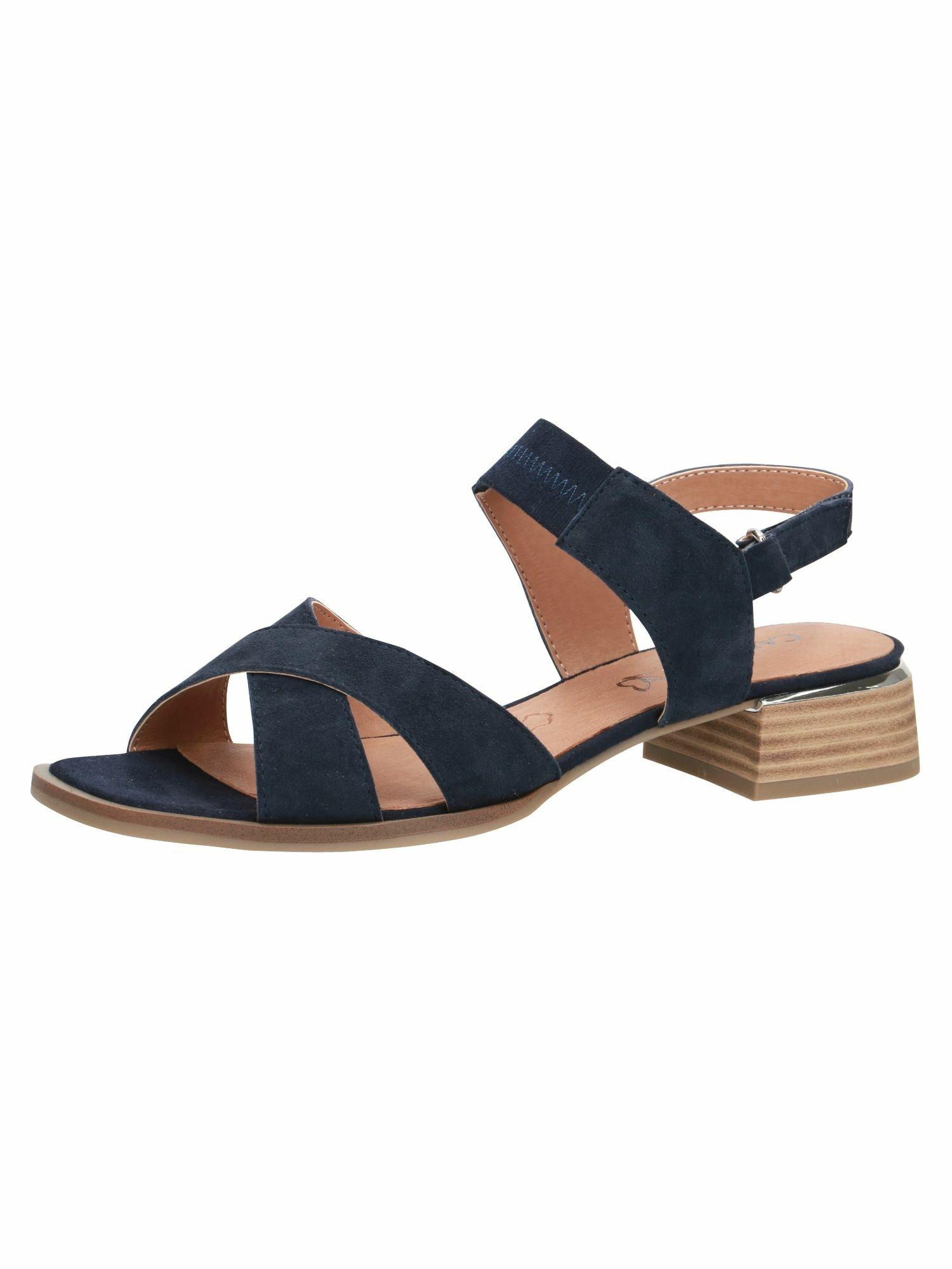 CAPRICE Sandalai tamsiai mėlyna / sidabrinė