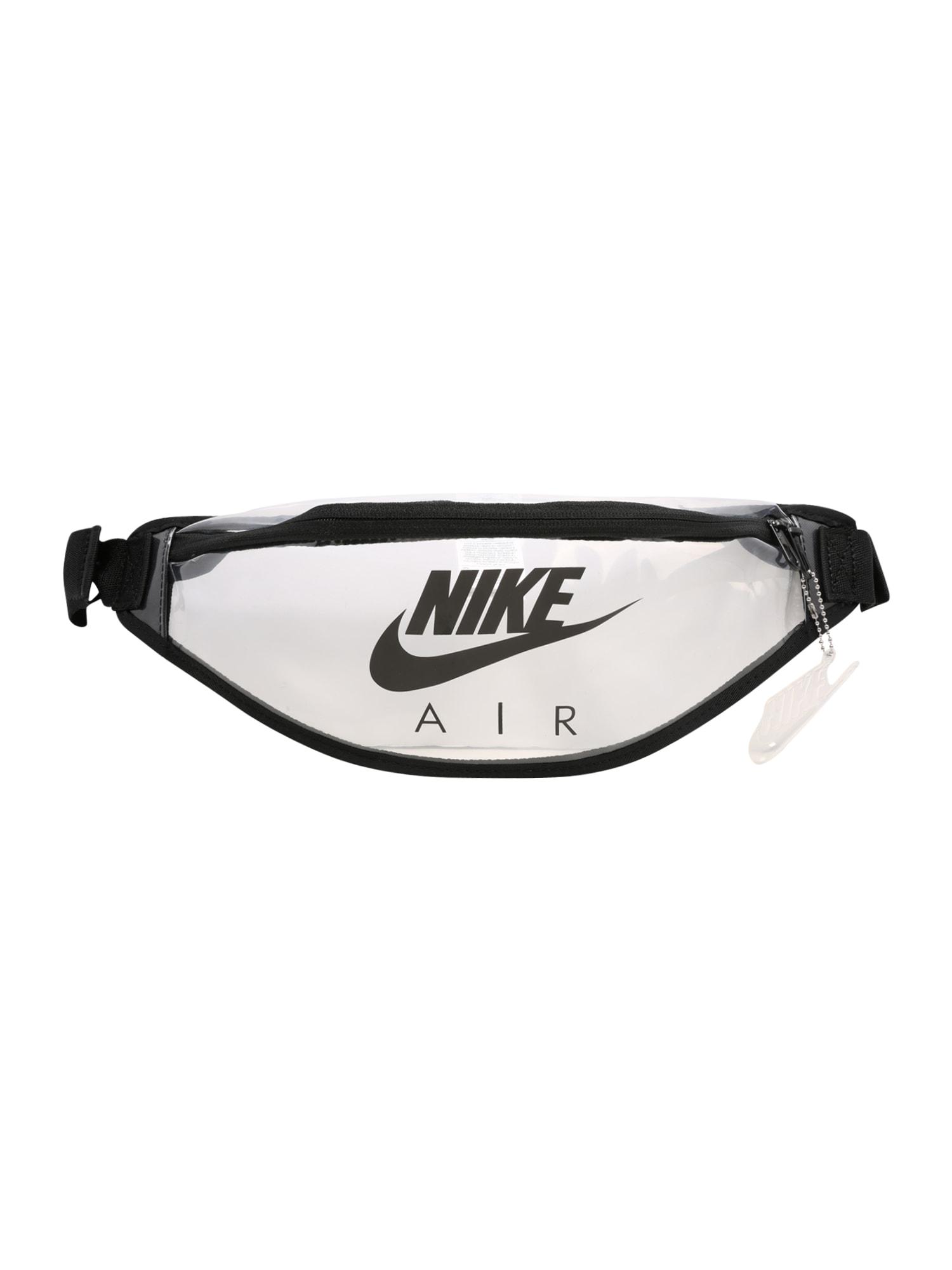 Nike Sportswear Ledvinka 'Heritage'  černá / průhledná