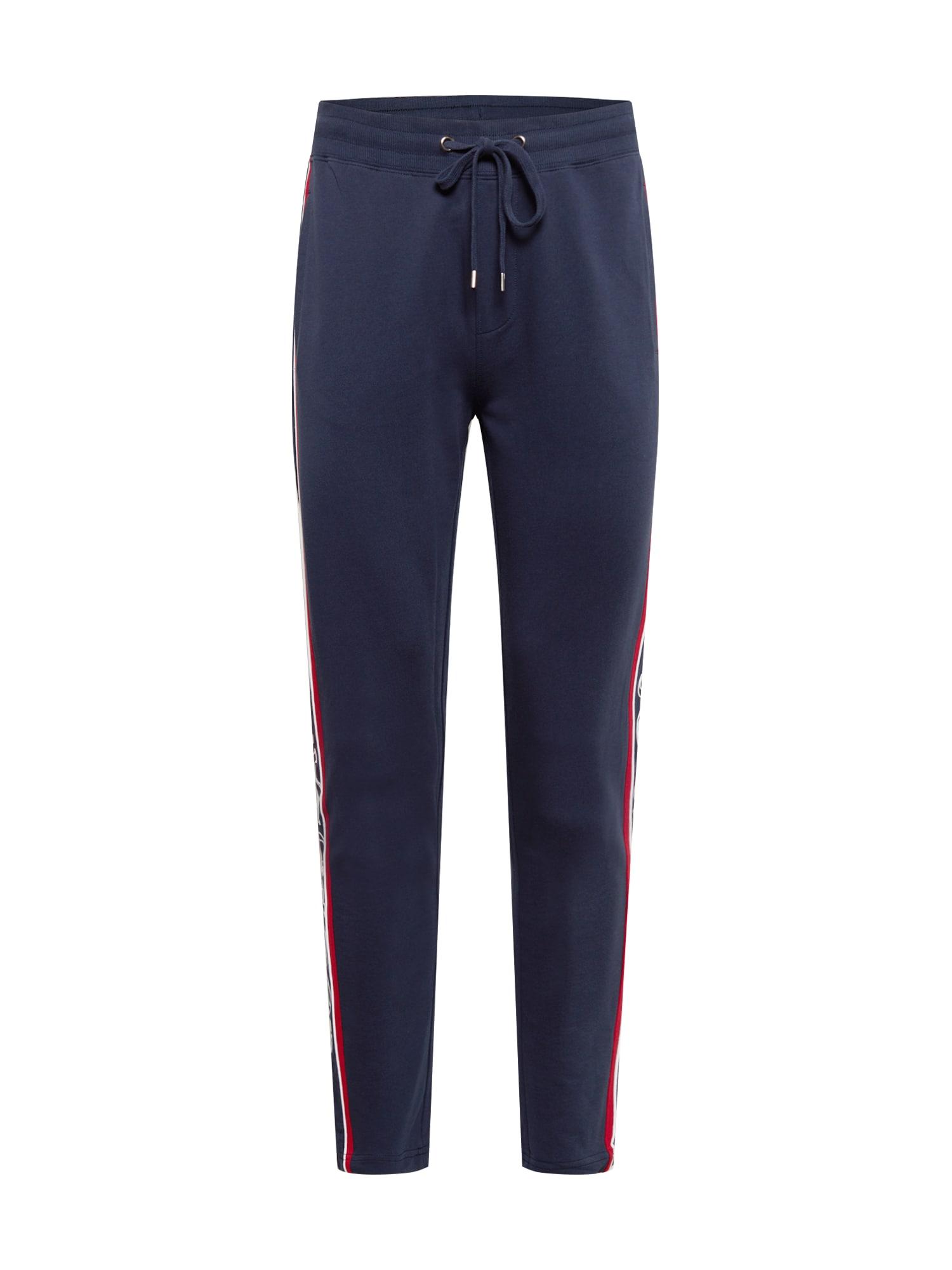 JOOP! Jeans Kelnės tamsiai mėlyna / balta / raudona