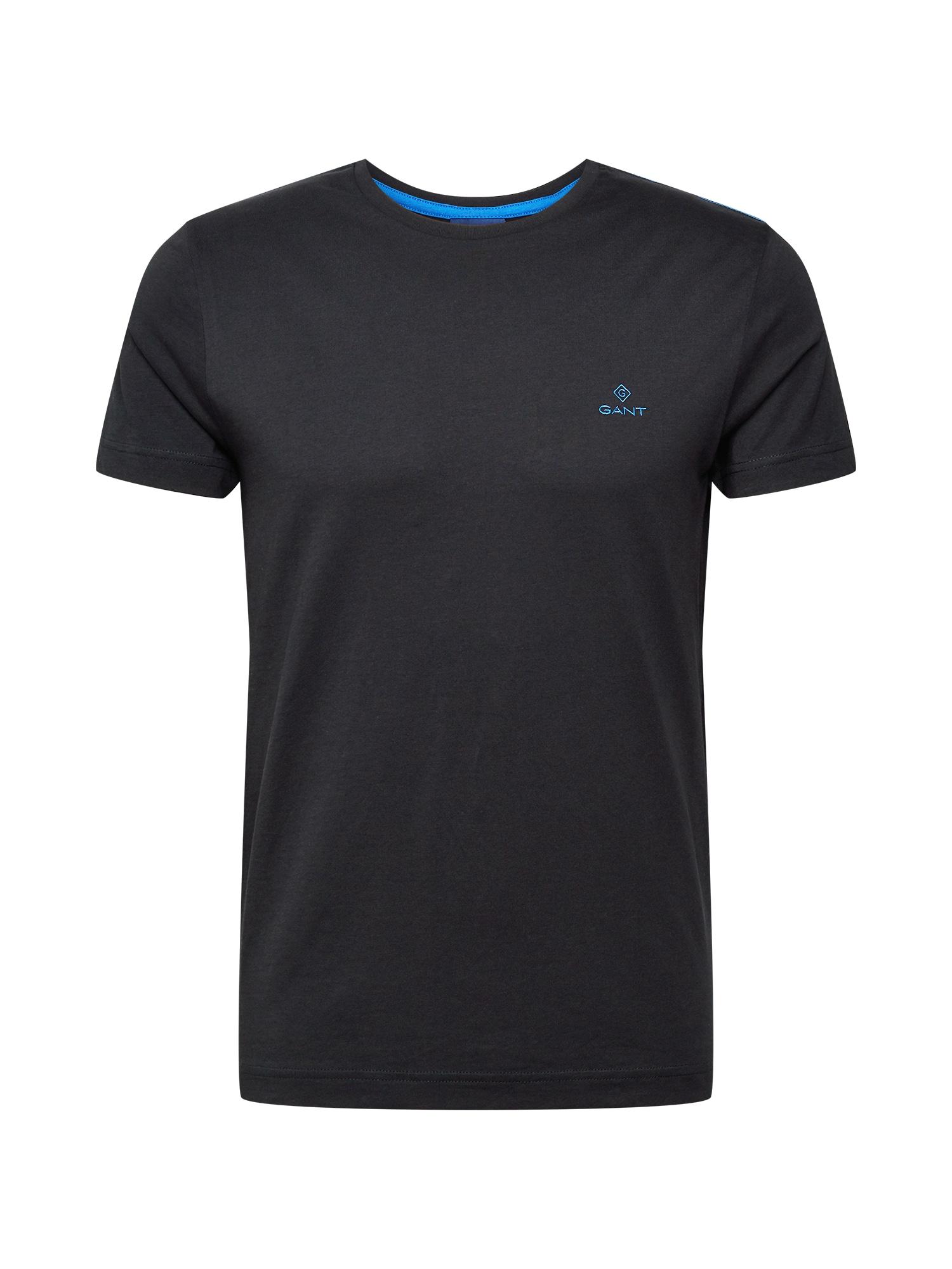 GANT Marškinėliai juoda / vandens spalva