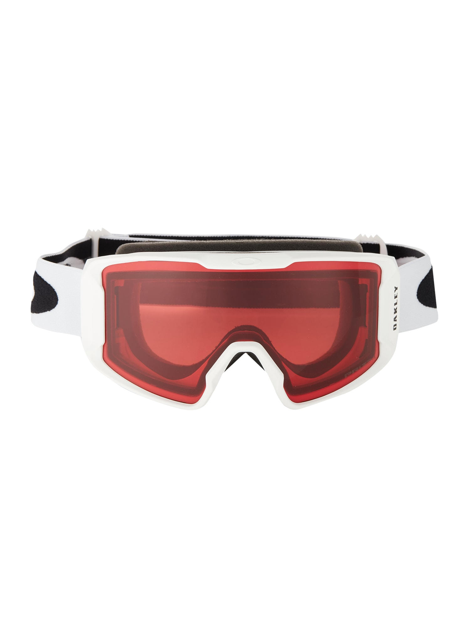 OAKLEY Sportiniai akiniai 'Line Miner' balta / juoda / raudona