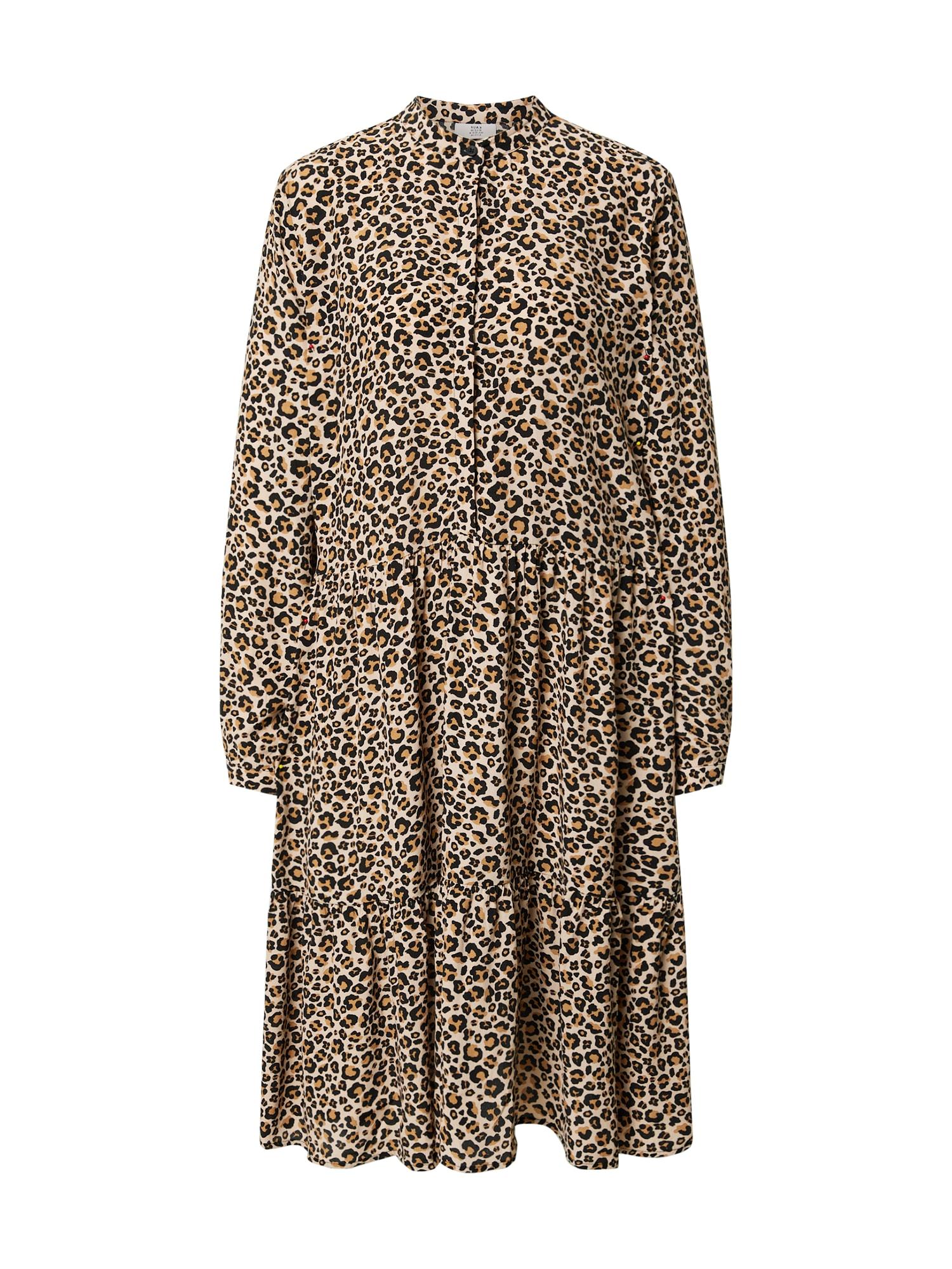 Kauf Dich Glücklich Palaidinės tipo suknelė šviesiai ruda / smėlio spalva / juoda
