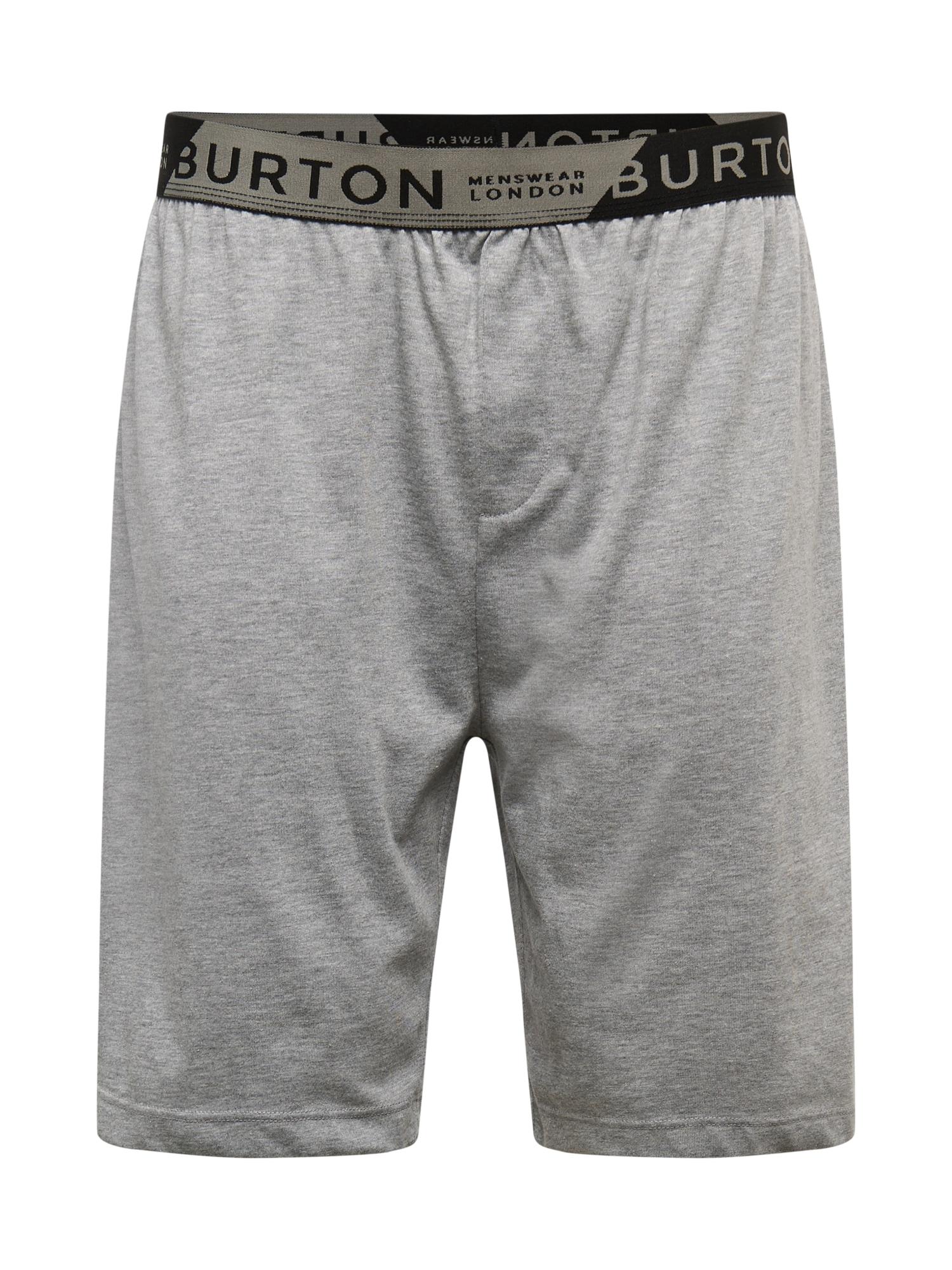 BURTON MENSWEAR LONDON Kalhoty  šedá / tmavě šedá / černá