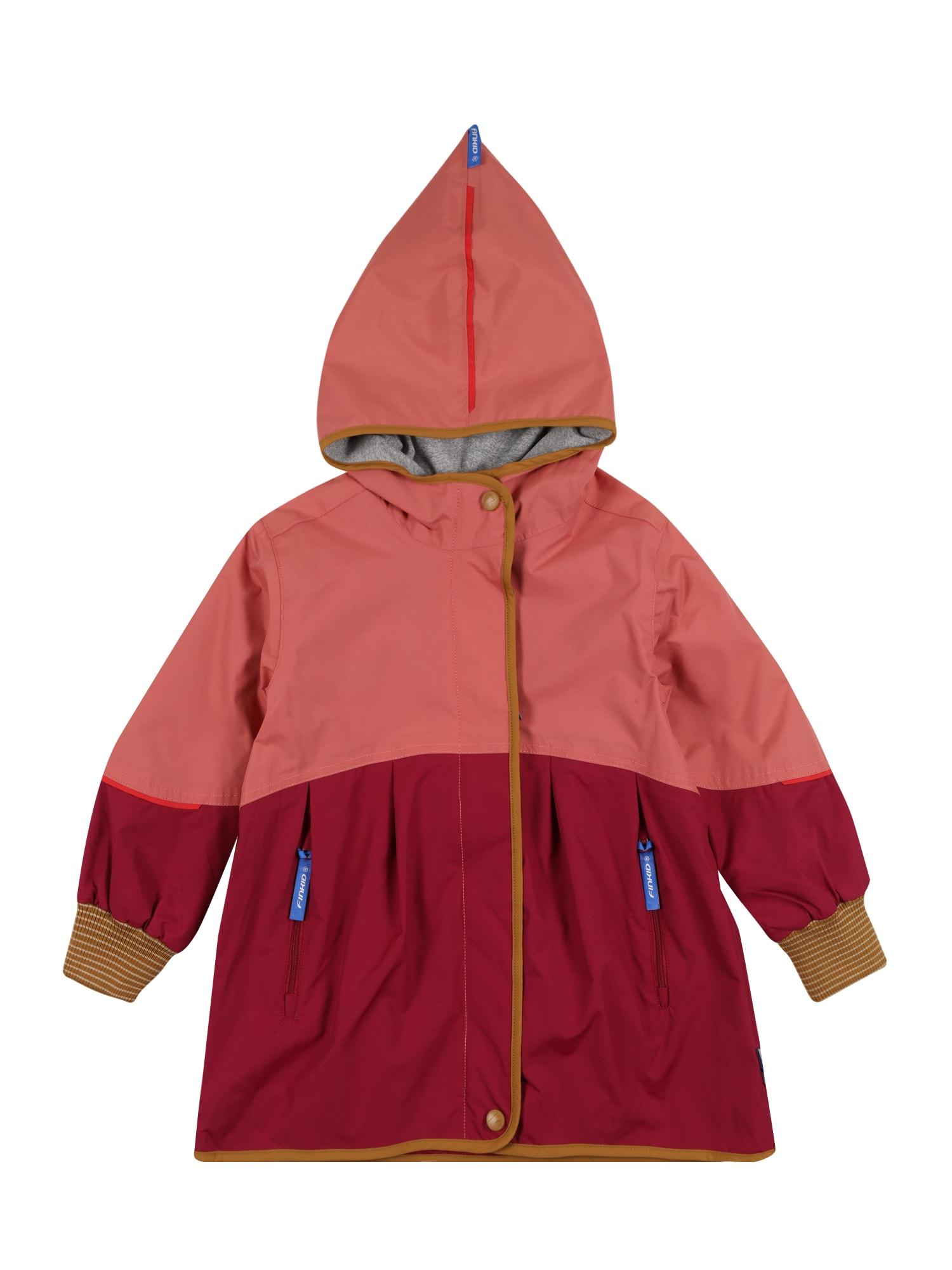 FINKID Paltas 'AINA MOVE' ruda / rožinė / skaisti avietinė ar rubino spalva