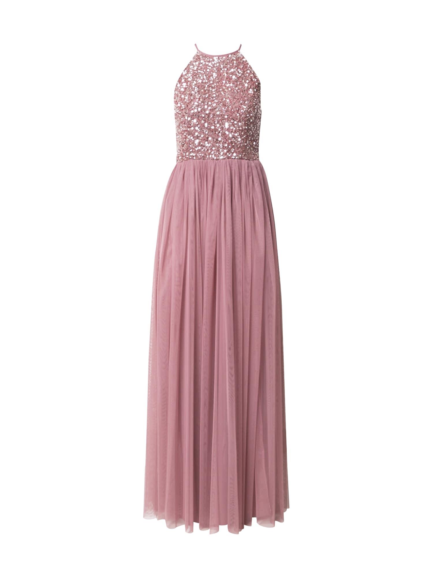 Maya Deluxe Vakarinė suknelė rožinė / sidabrinė