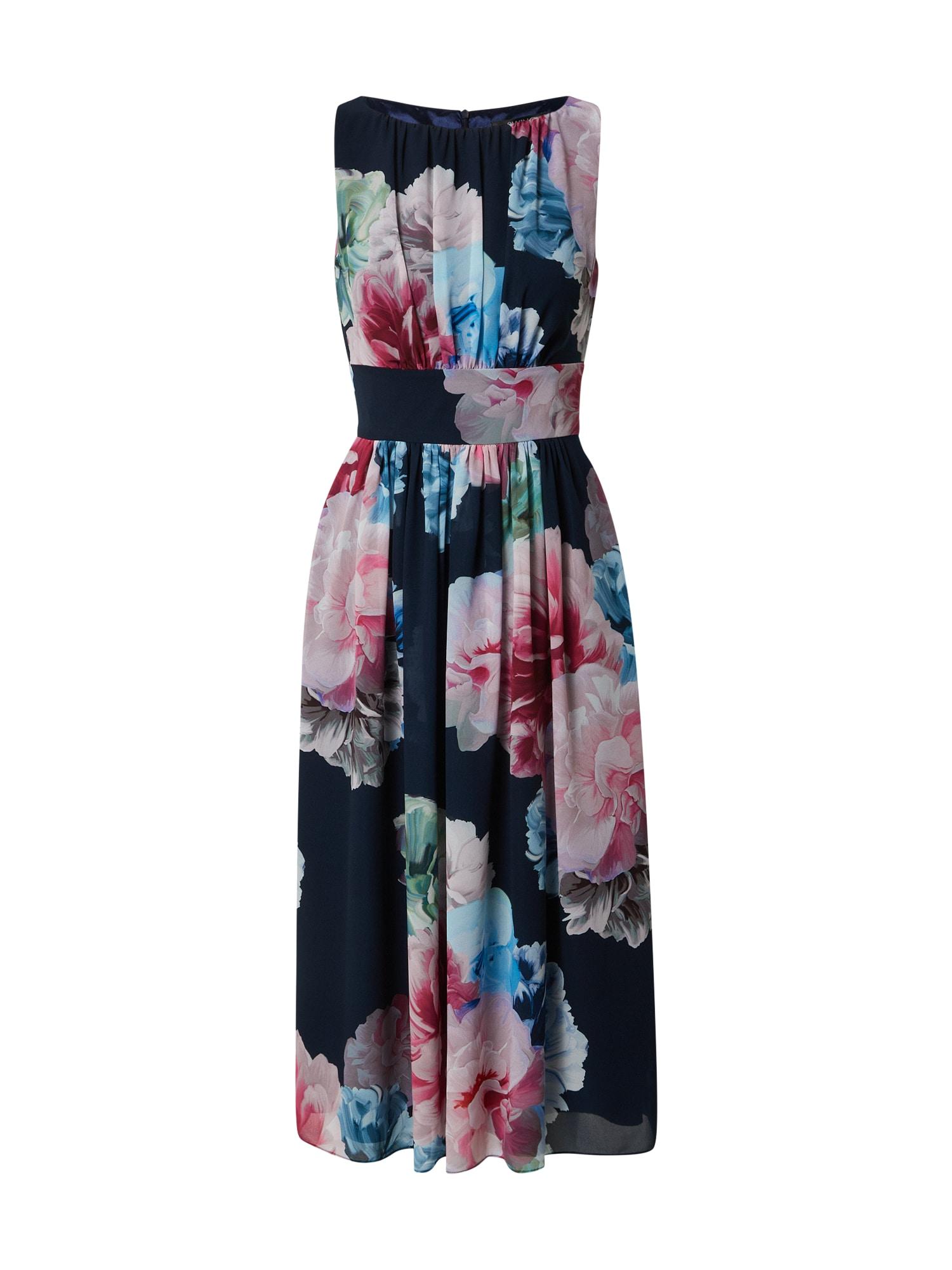 SWING Kokteilinė suknelė tamsiai mėlyna / rožinė / šviesiai rožinė / mėlyna / pilka