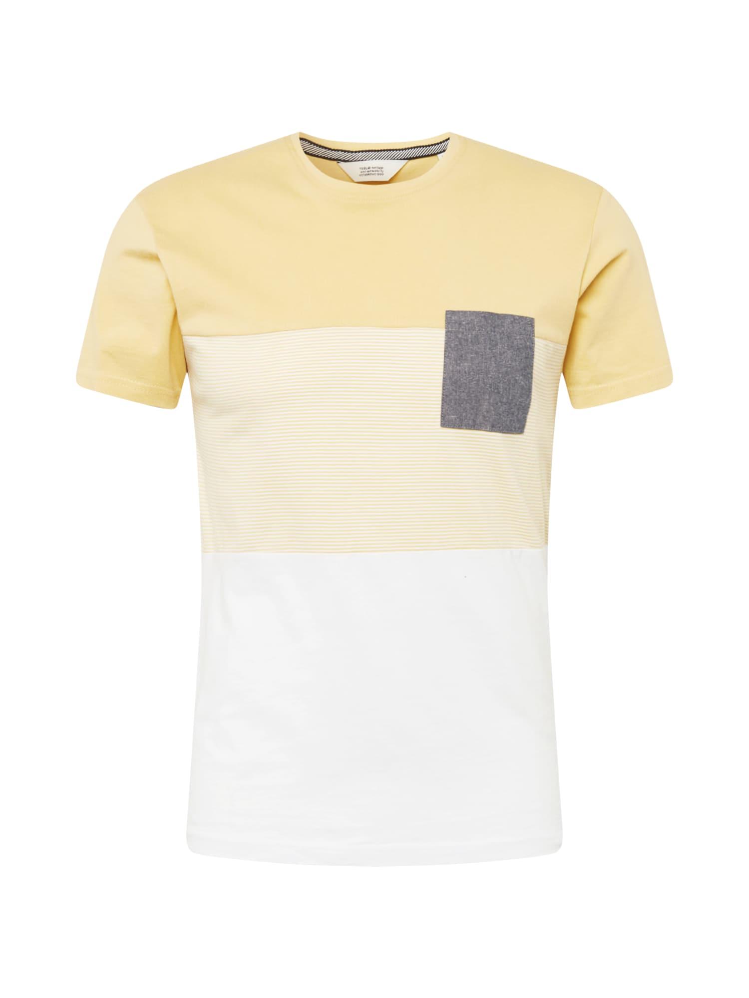 !Solid Marškinėliai geltona / šviesiai geltona / balta / pilka