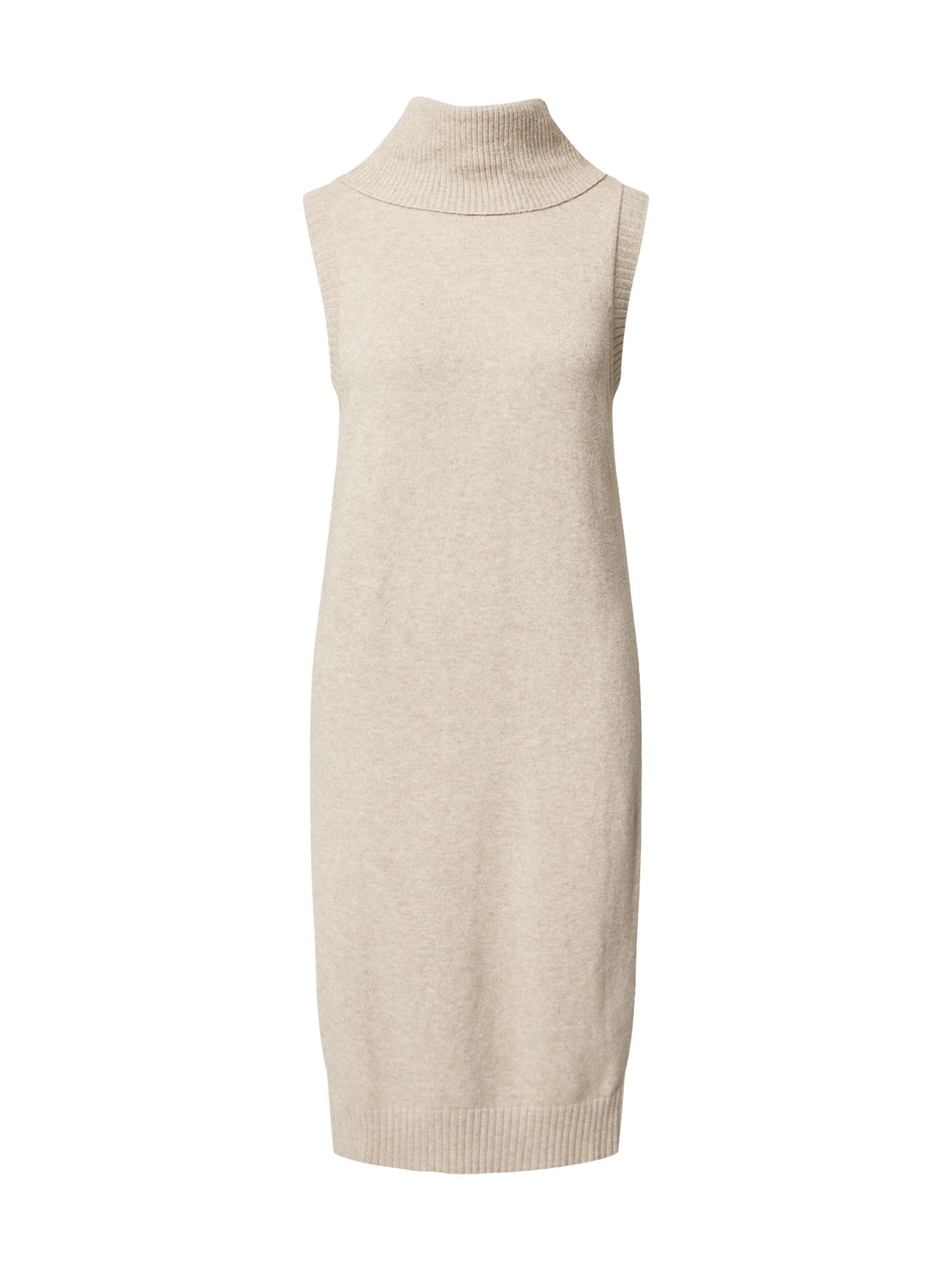 VILA Úpletové šaty 'Viril'  béžový melír