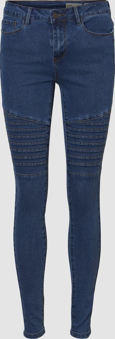 Vero Moda Petite Hot Seven Skinny Jeans mit mittelhohem Bund und Biker-Detail