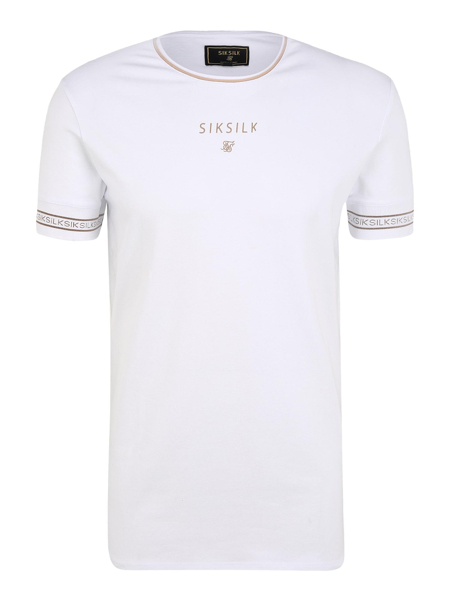 SikSilk Marškinėliai auksas / balta