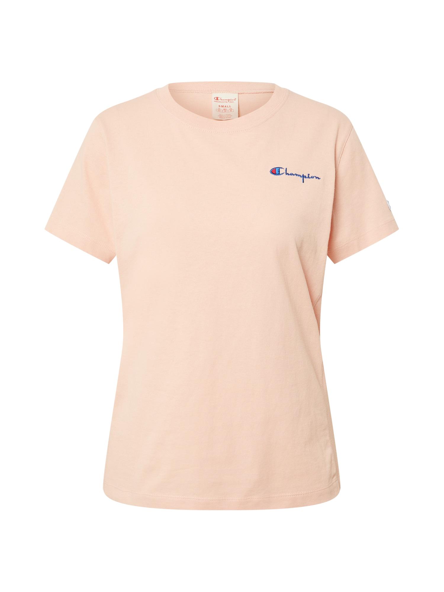 Champion Reverse Weave Marškinėliai persikų spalva / tamsiai mėlyna jūros spalva