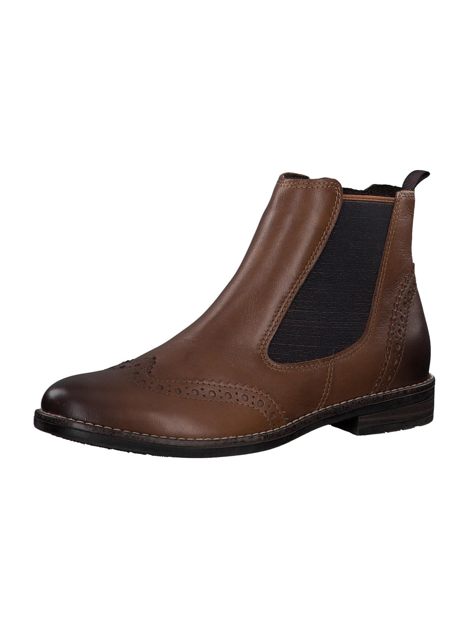 MARCO TOZZI Chelsea batai ruda / garstyčių spalva