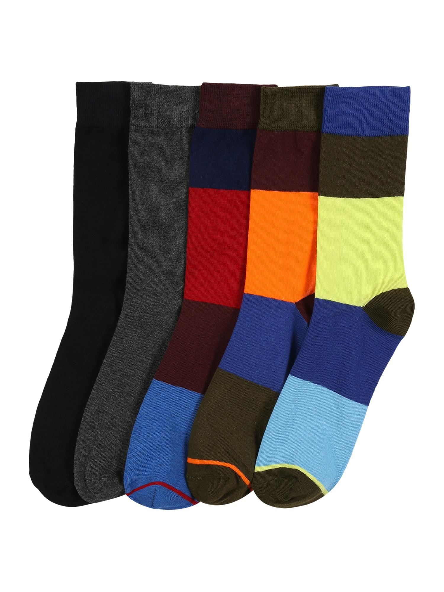JACK & JONES Ponožky 'HAPPY BLOCK'  mix barev