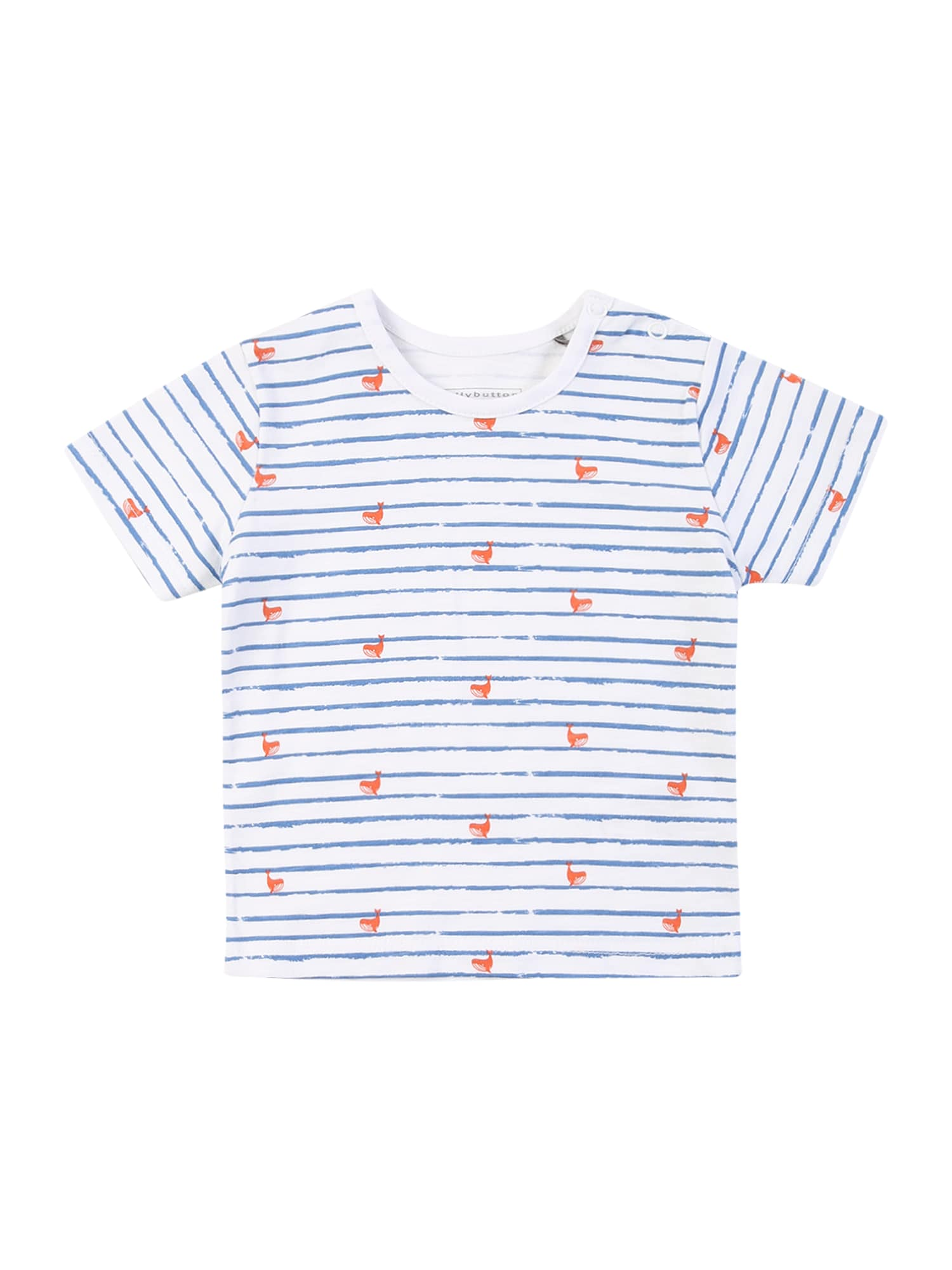 BELLYBUTTON Marškinėliai balta / mėlyna dūmų spalva / oranžinė