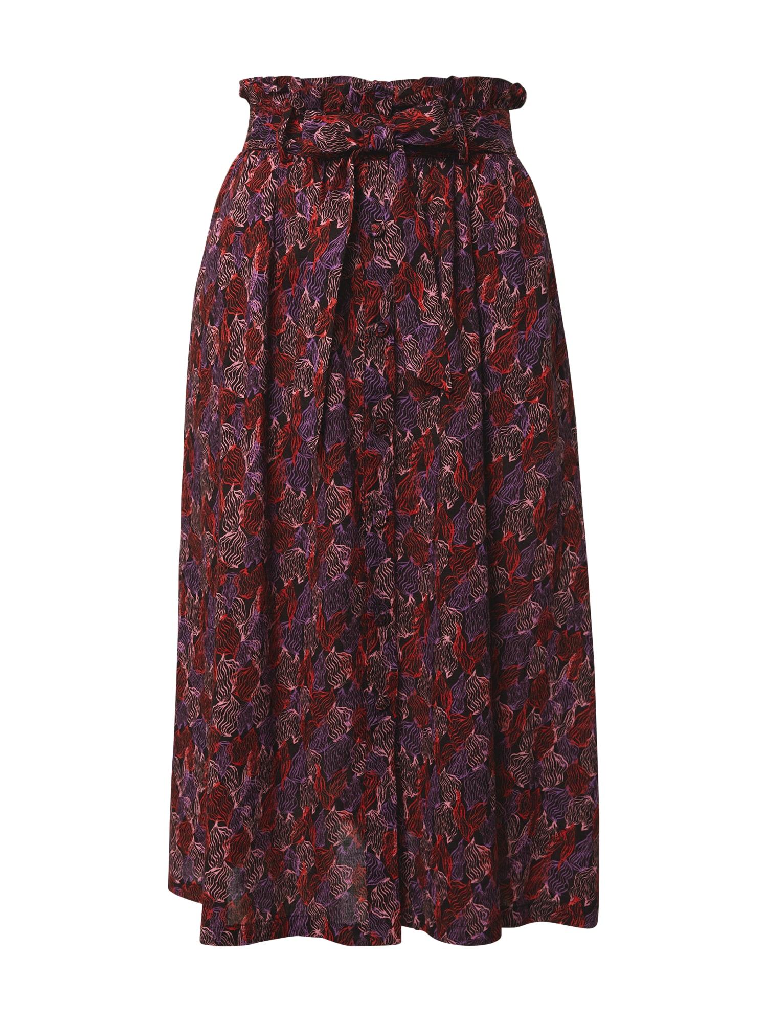 FRNCH PARIS Sijonas purpurinė / raudona / juoda / šviesiai rožinė
