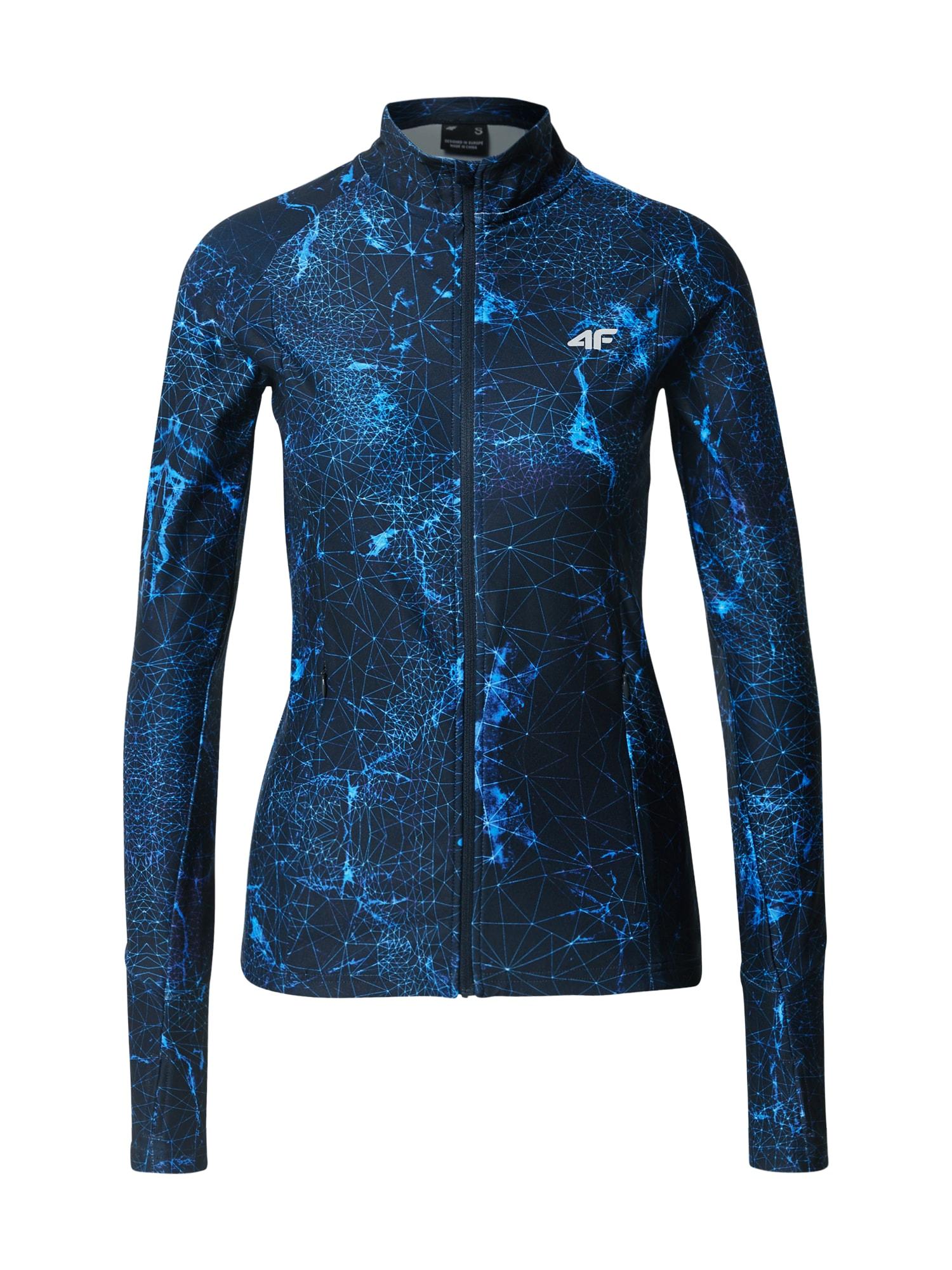 4F Sportinis džemperis mėlyna / tamsiai mėlyna / dangaus žydra