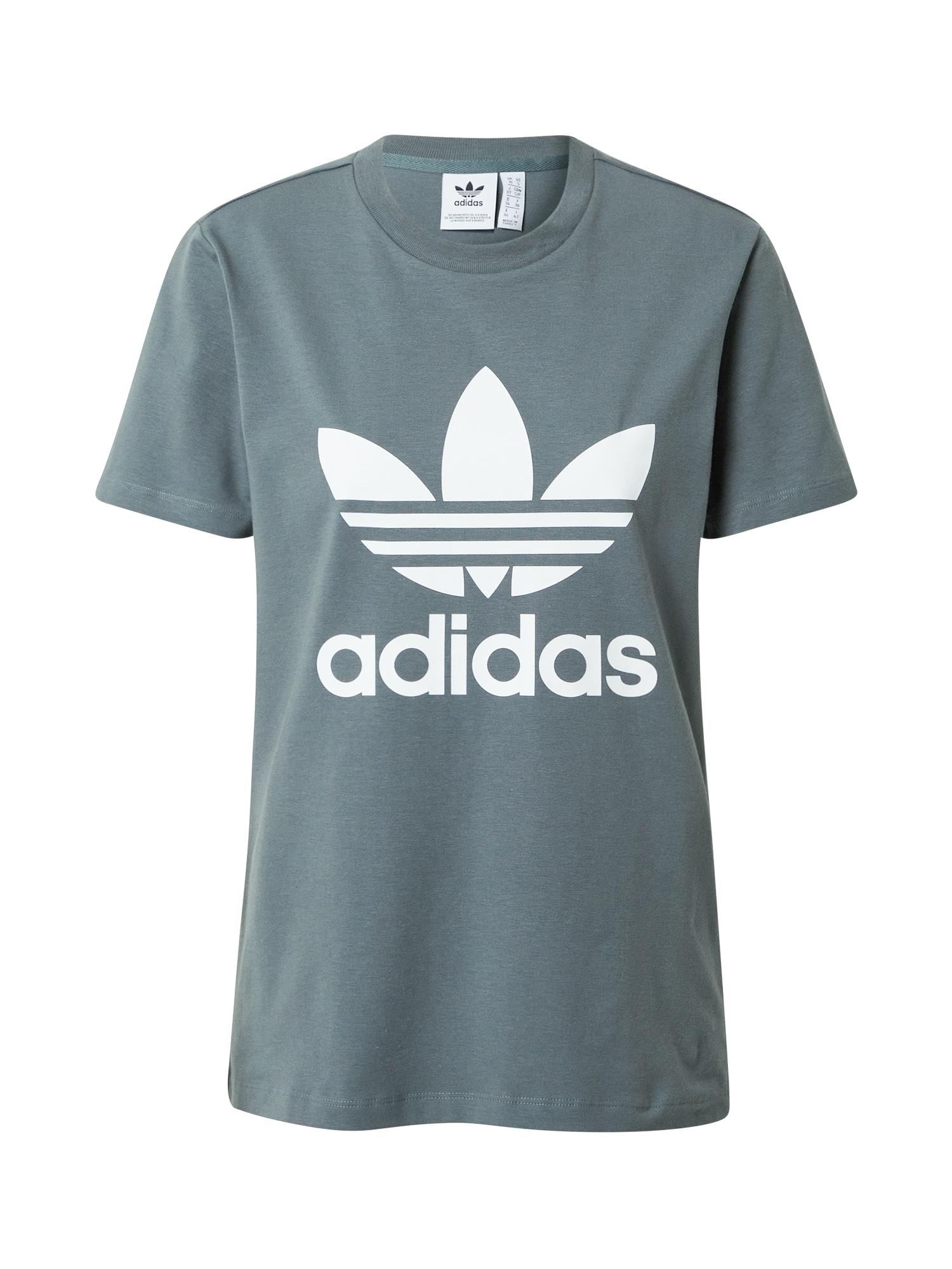 ADIDAS ORIGINALS Marškinėliai pilka / balta