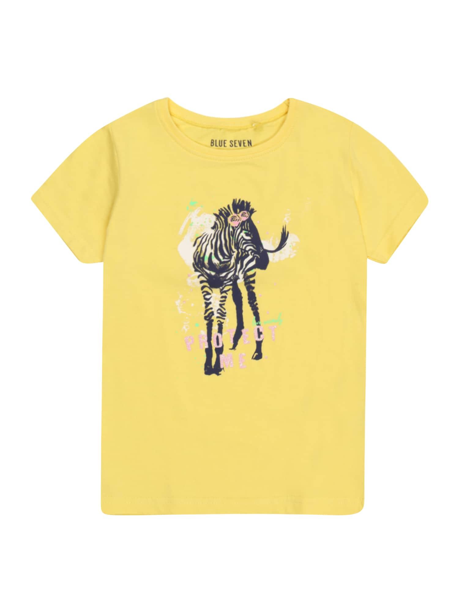BLUE SEVEN Marškinėliai geltona / juoda / rožinė