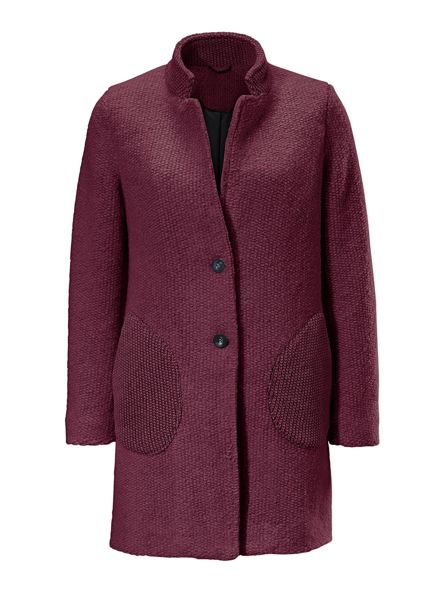 heine Demisezoninis paltas vyšninė spalva