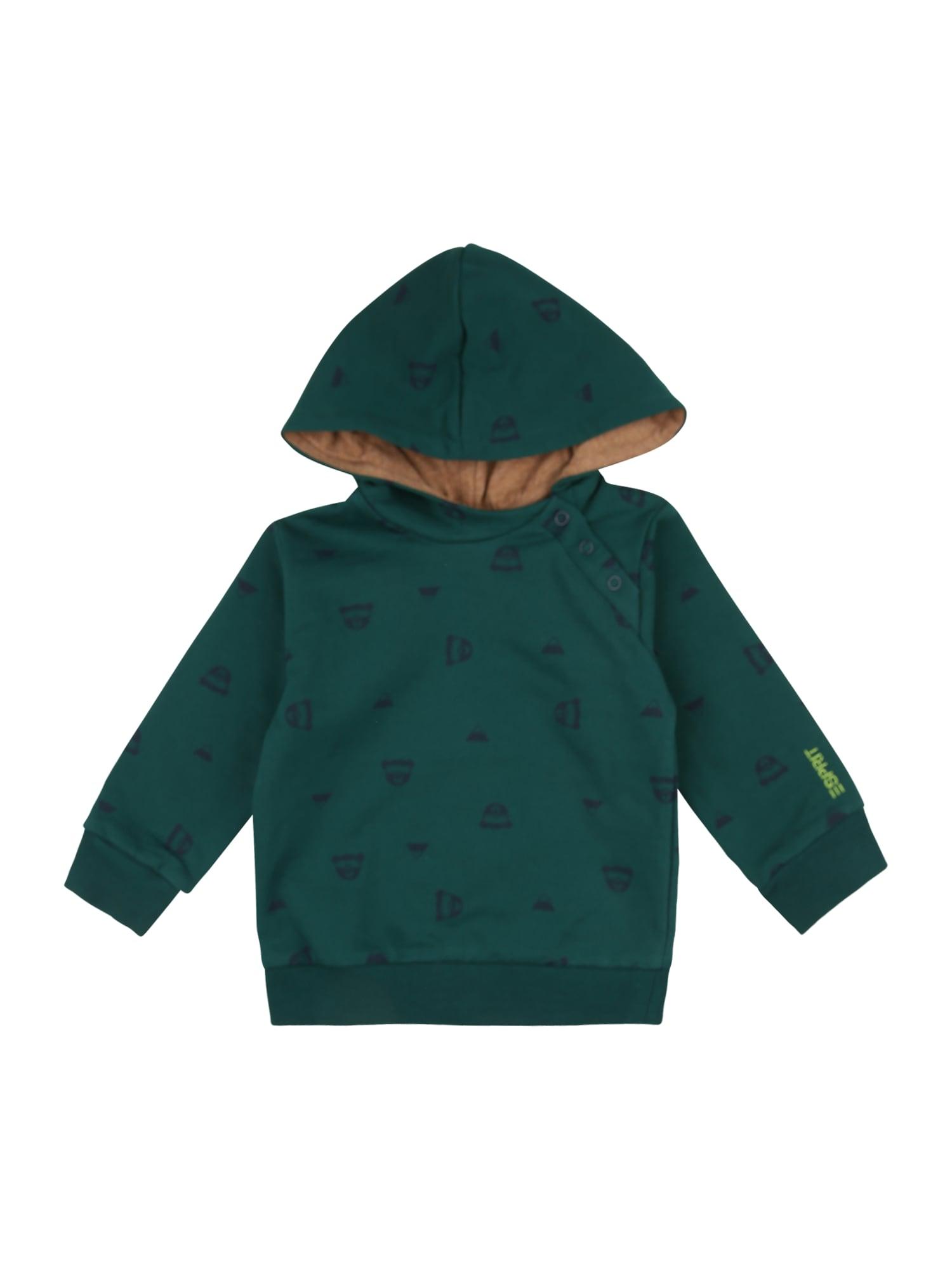 ESPRIT Megztinis be užsegimo tamsiai žalia / tamsiai mėlyna jūros spalva