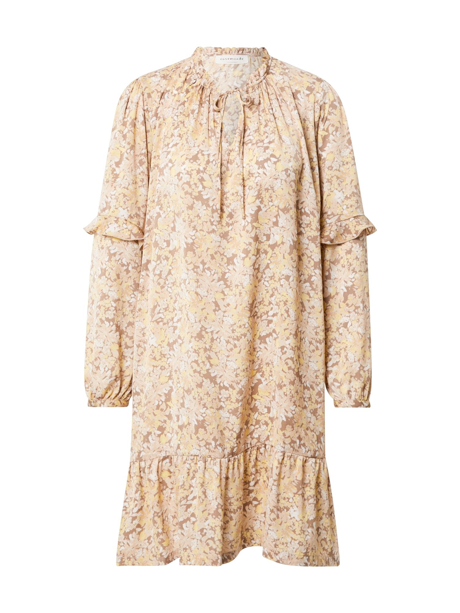 rosemunde Palaidinės tipo suknelė smėlio / balta / kupranugario