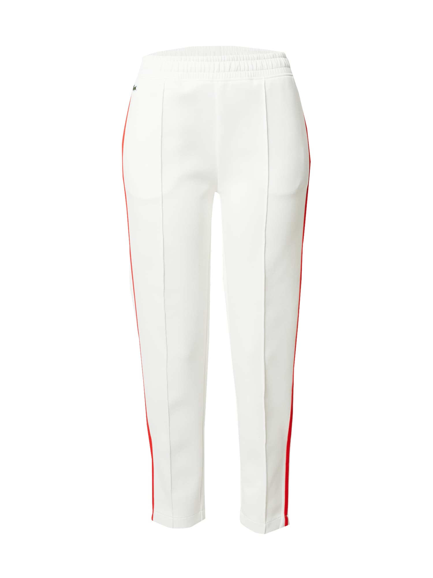 LACOSTE Kelnės balta / raudona