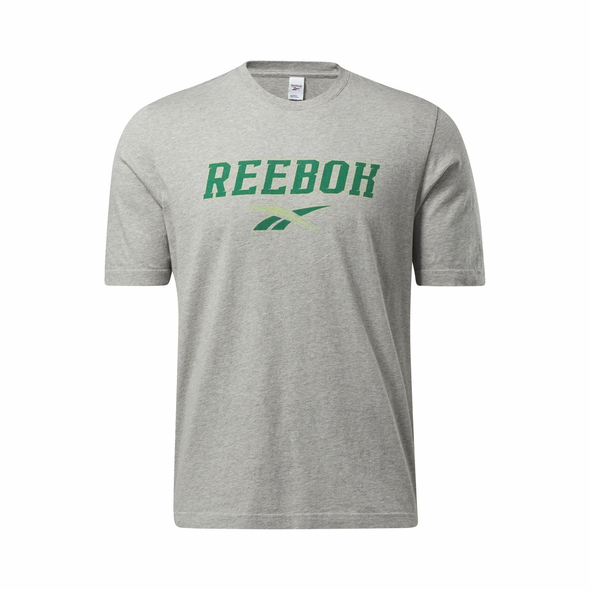 Reebok Classic Marškinėliai pilka / žalia