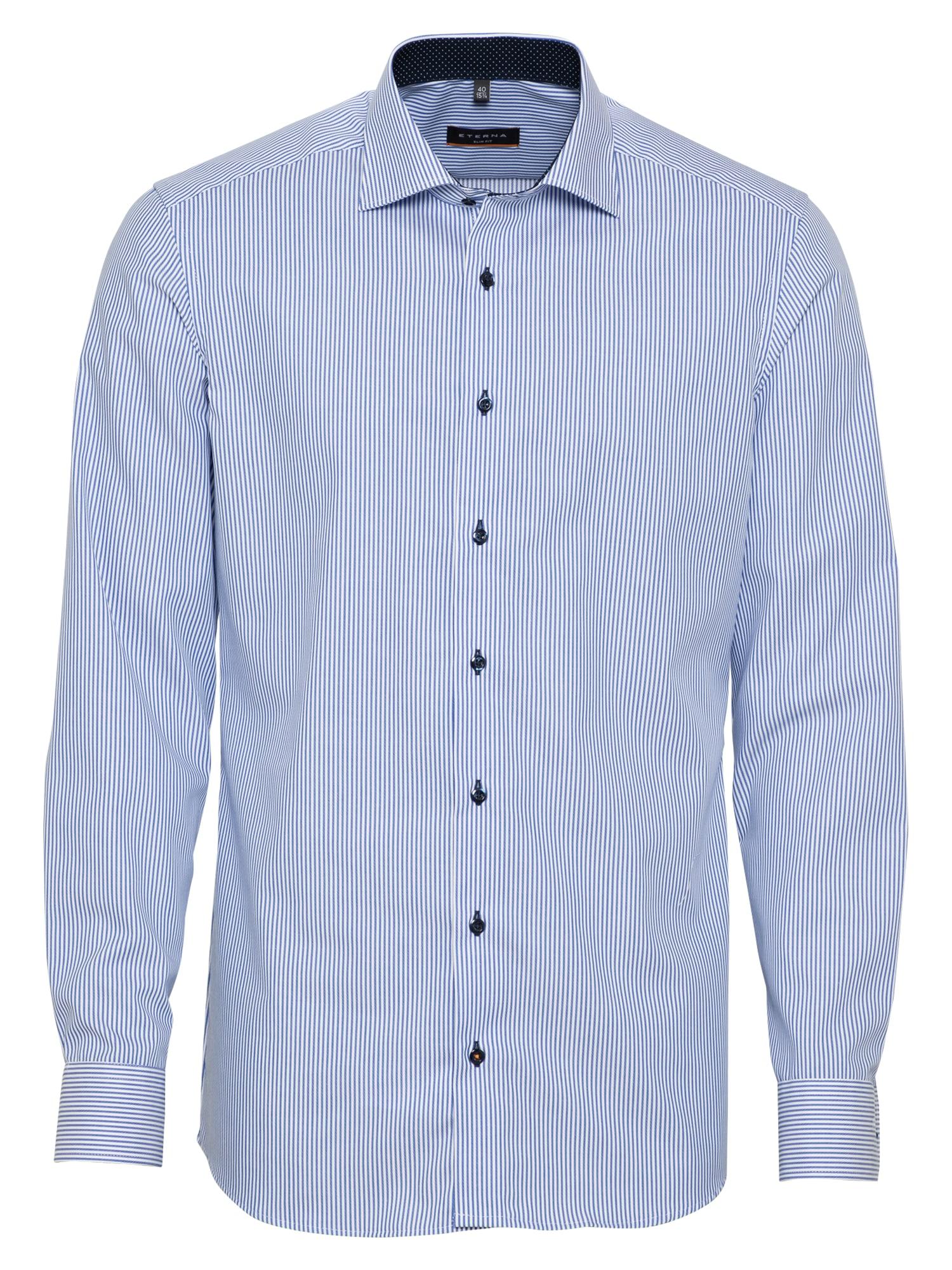 ETERNA Dalykinio stiliaus marškiniai šviesiai mėlyna / balta
