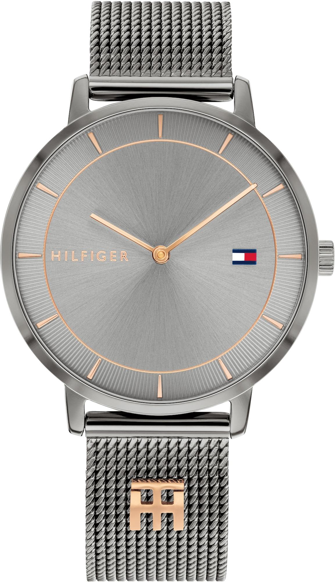 TOMMY HILFIGER Analoginis (įprasto dizaino) laikrodis sidabrinė / auksas
